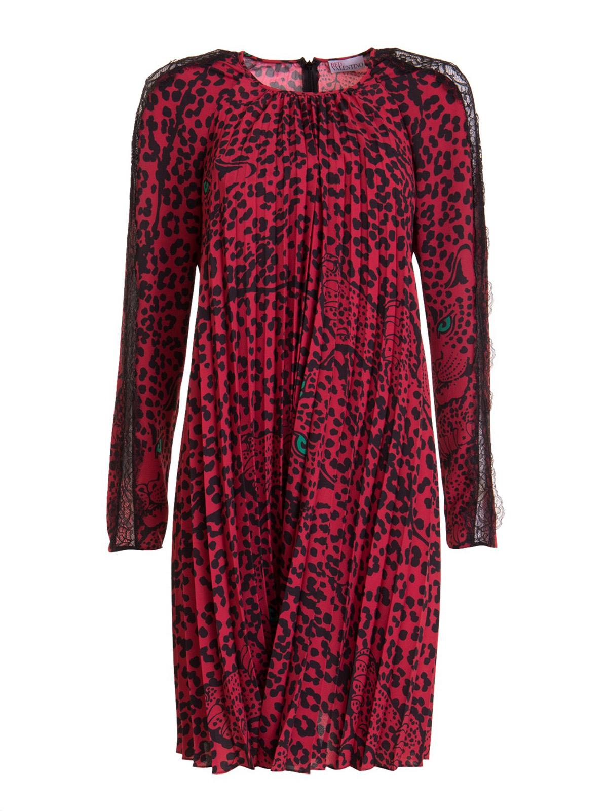 Red Valentino LEO PANTHER PRINT MAROCAINE DRESS
