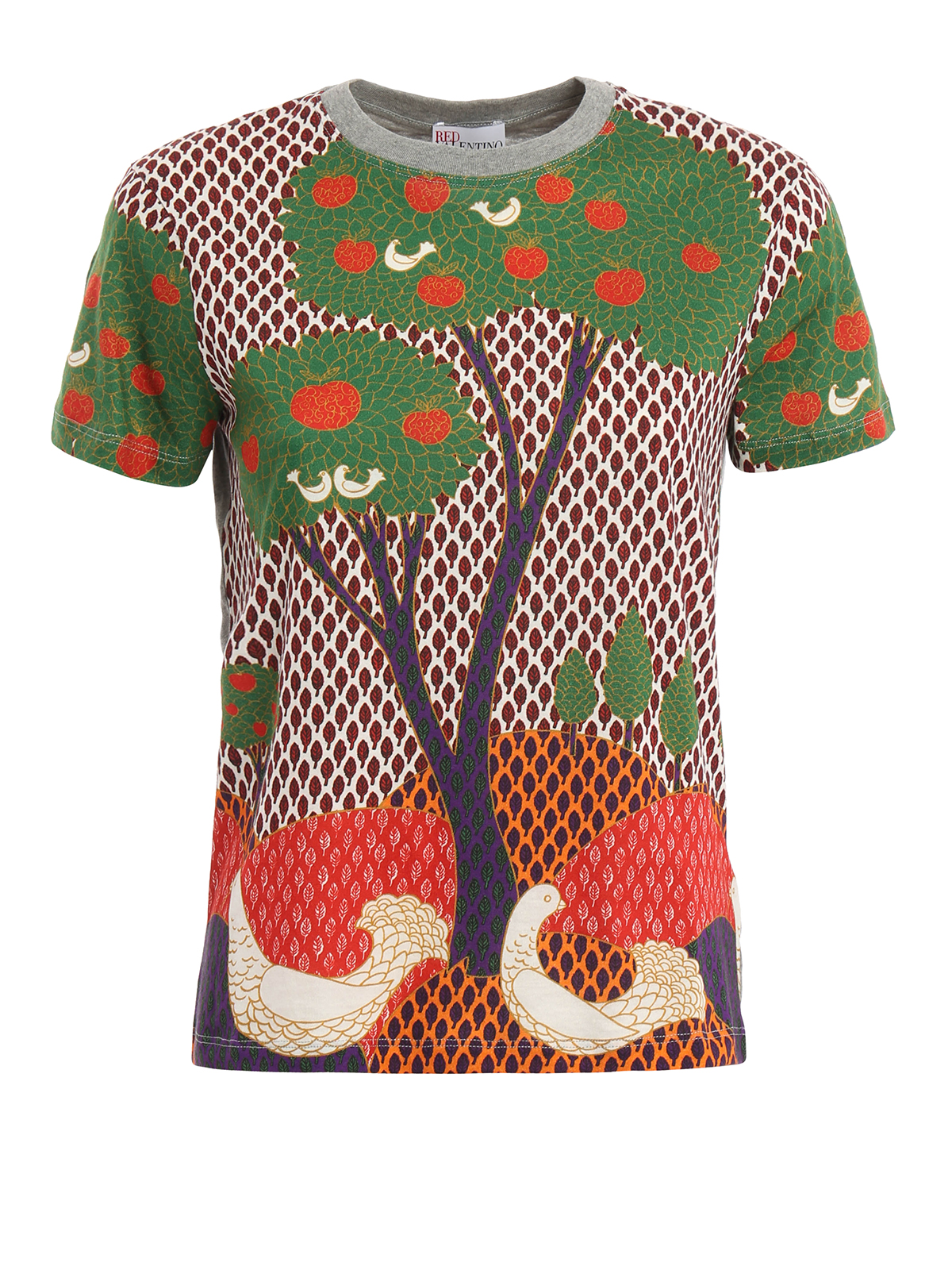 Fantasy landscape t shirt by valentino red t shirts for Red valentino t shirt