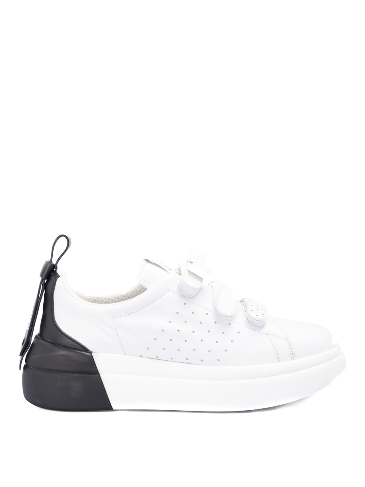 Red Valentino TWO-TONE CALF LEATHER SNEAKERS