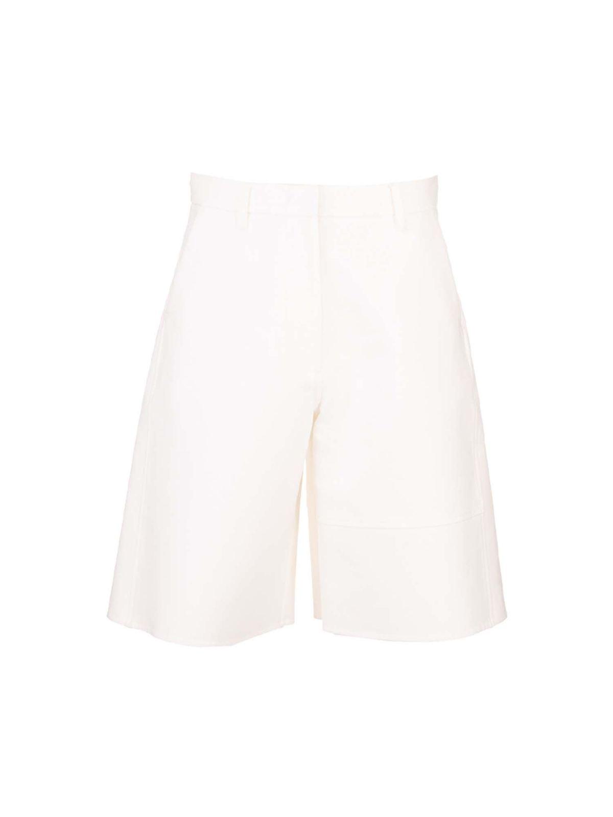 Valentino WIDE LEGS BERMUDA IN WHITE