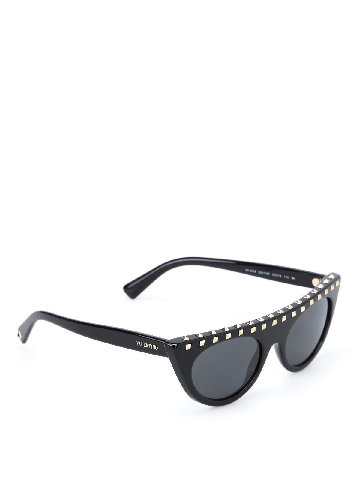 0c288fc8f8c Black Valentino Studded Sunglasses