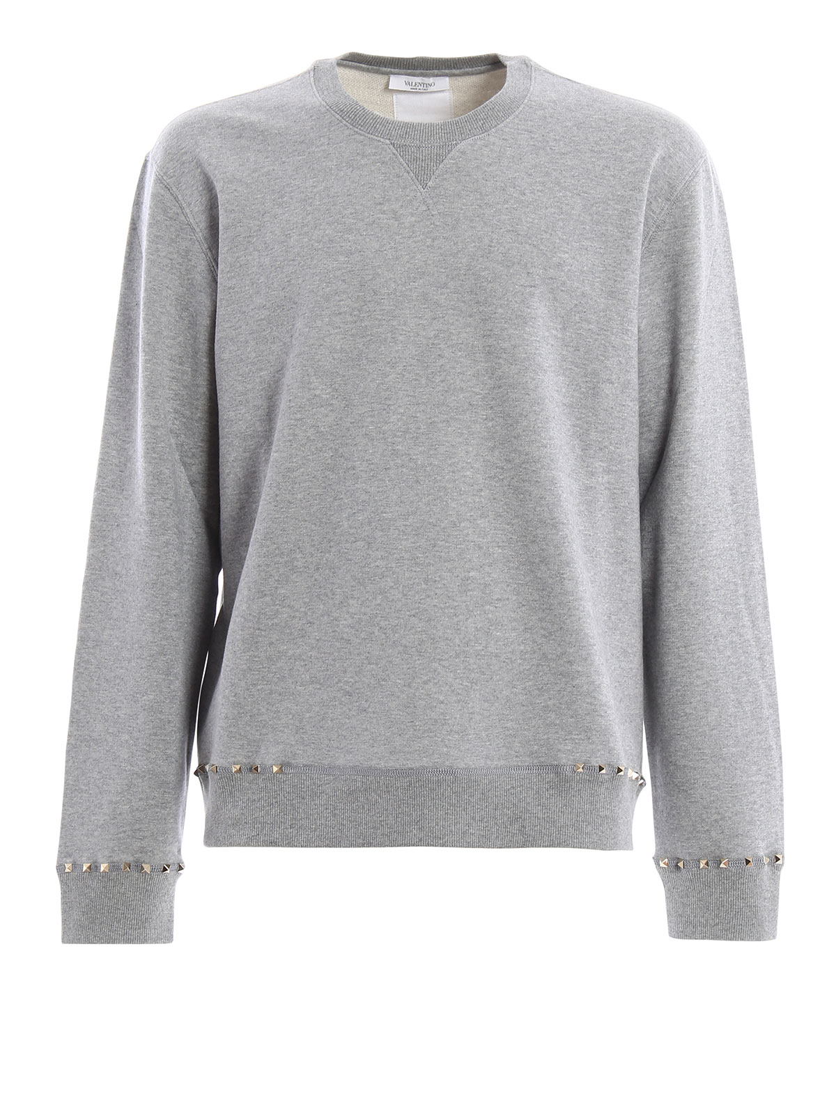 Rockstud sweatshirt - Grey Valentino Outlet With Paypal Order Clearance 2018 New Xhjr1wud3