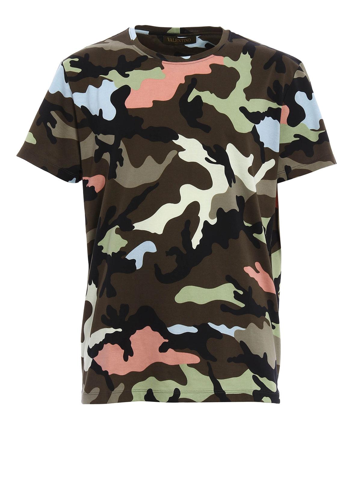 camouflage t shirt by valentino t shirts ikrix