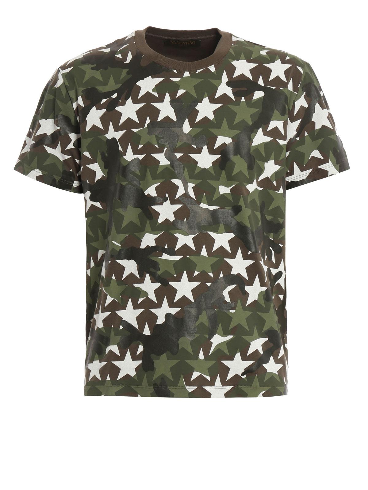979436b7 Valentino - Camustars print T-shirt - t-shirts - MV3MG00W3T7Z56