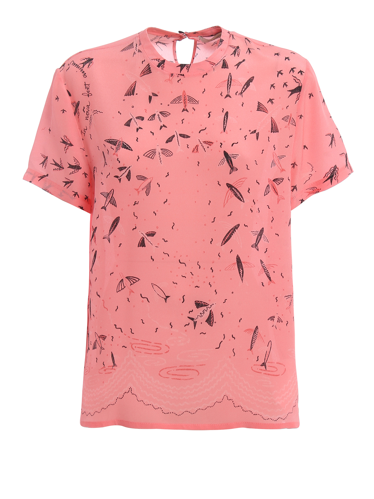 Exclusive print silk t shirt by valentino t shirts ikrix for Print one t shirt