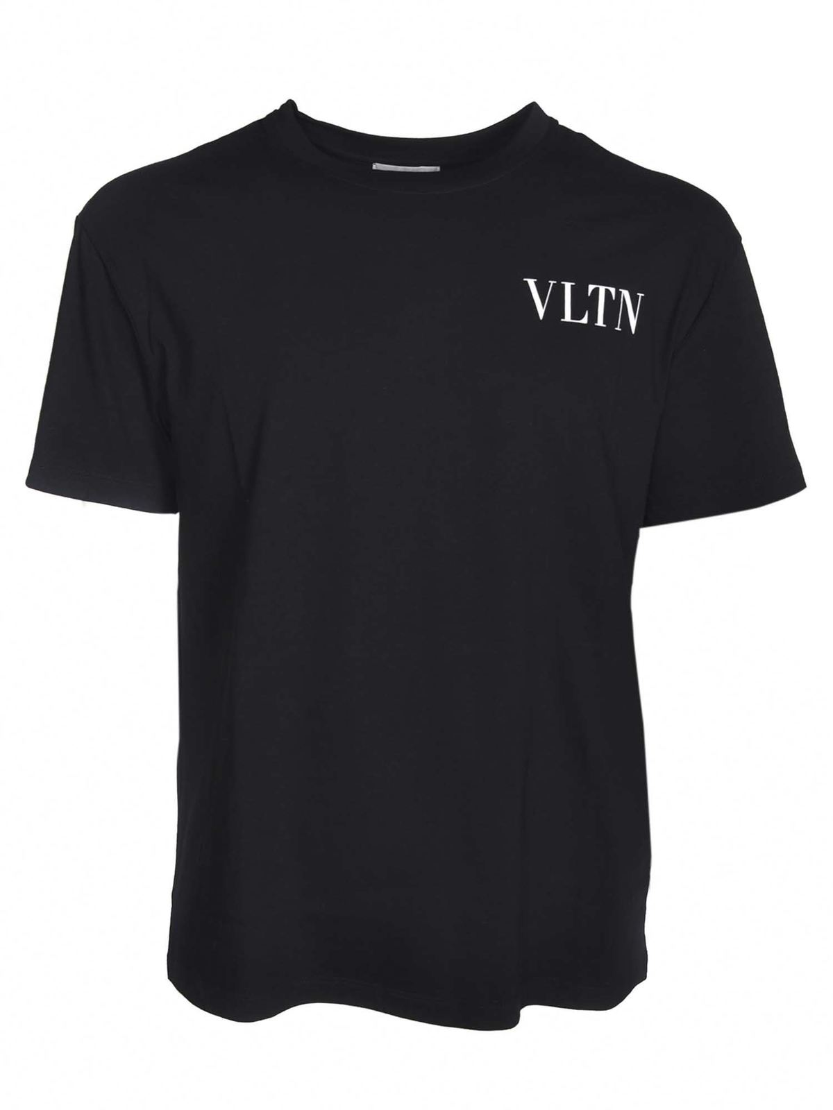 Valentino Cottons LOGO T-SHIRT IN BLACK
