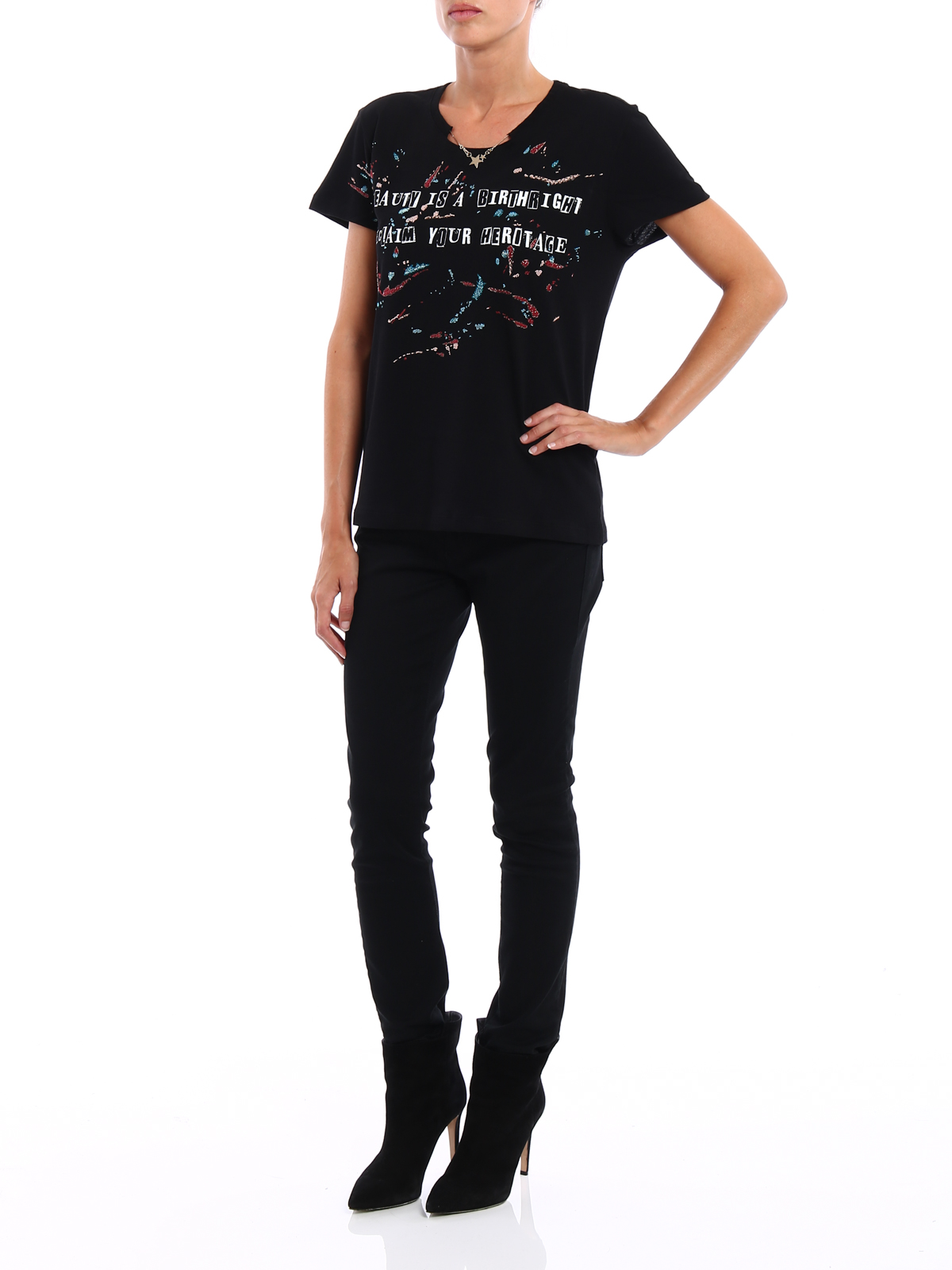 Jamie reid embroidered t shirt by valentino shirts ikrix