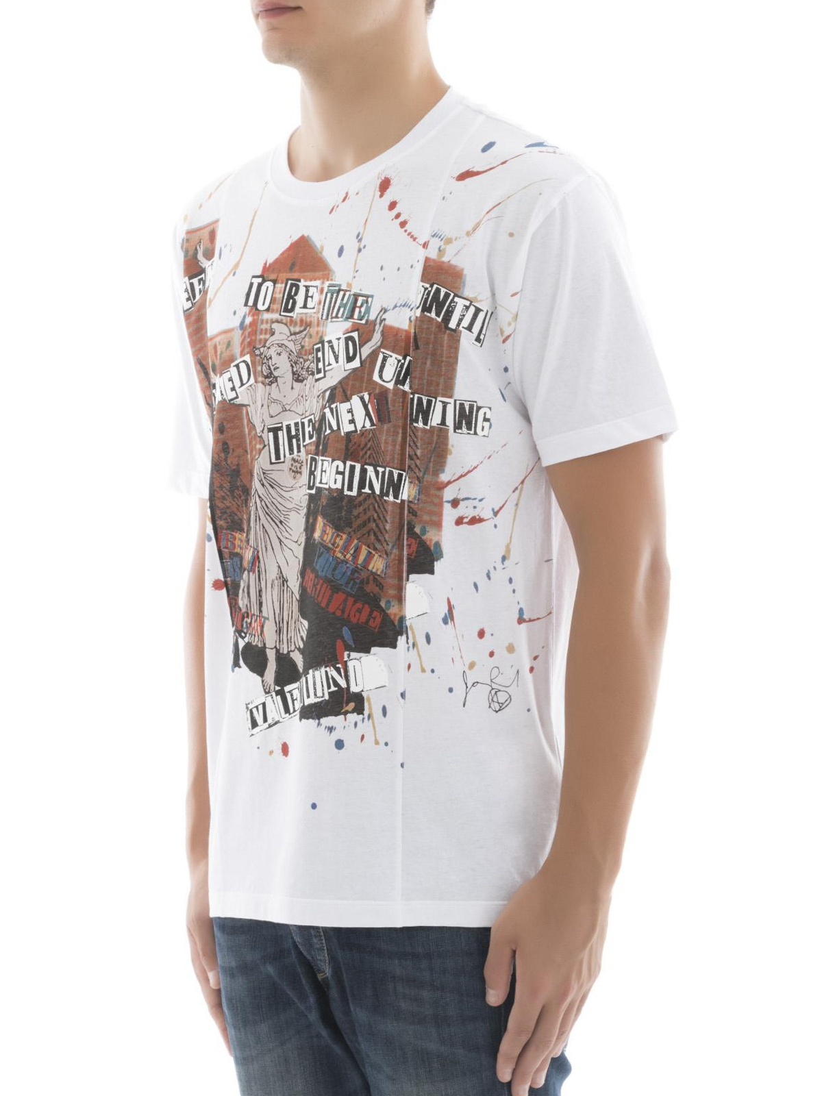 Jamie reid printed tee by valentino t shirts shop for T shirt printers online