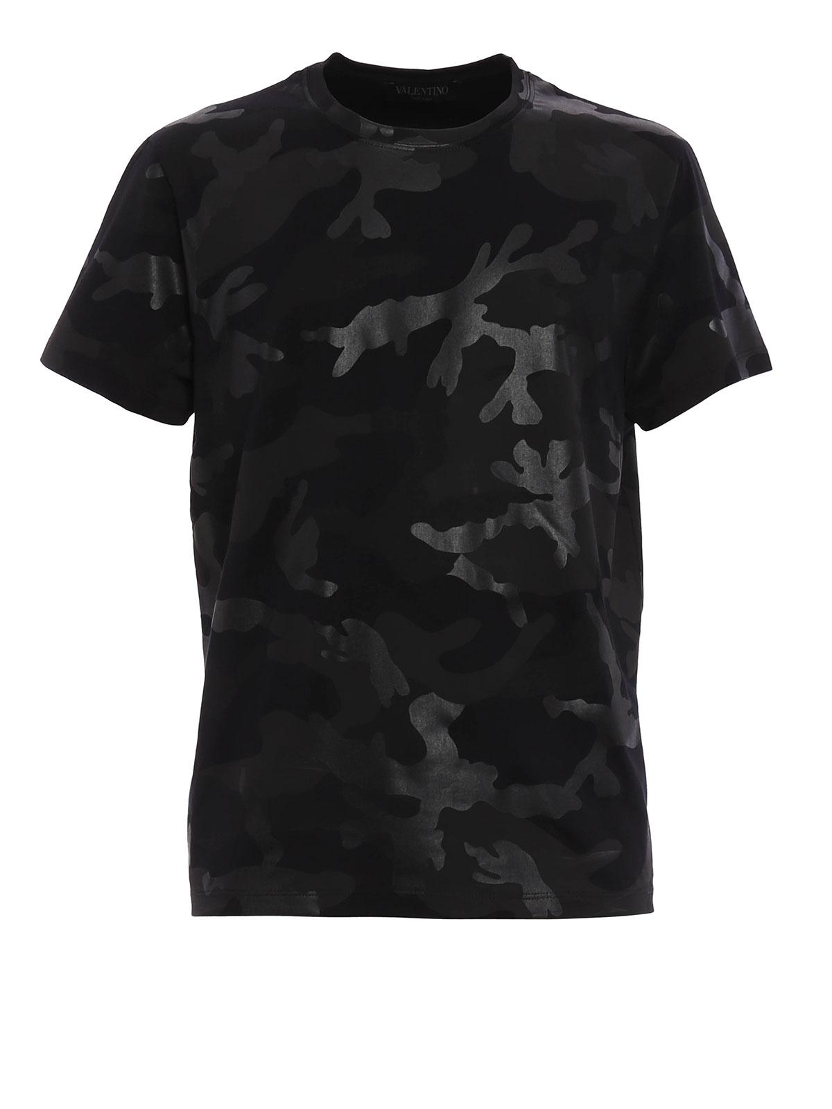 camouflage t shirt schwarz