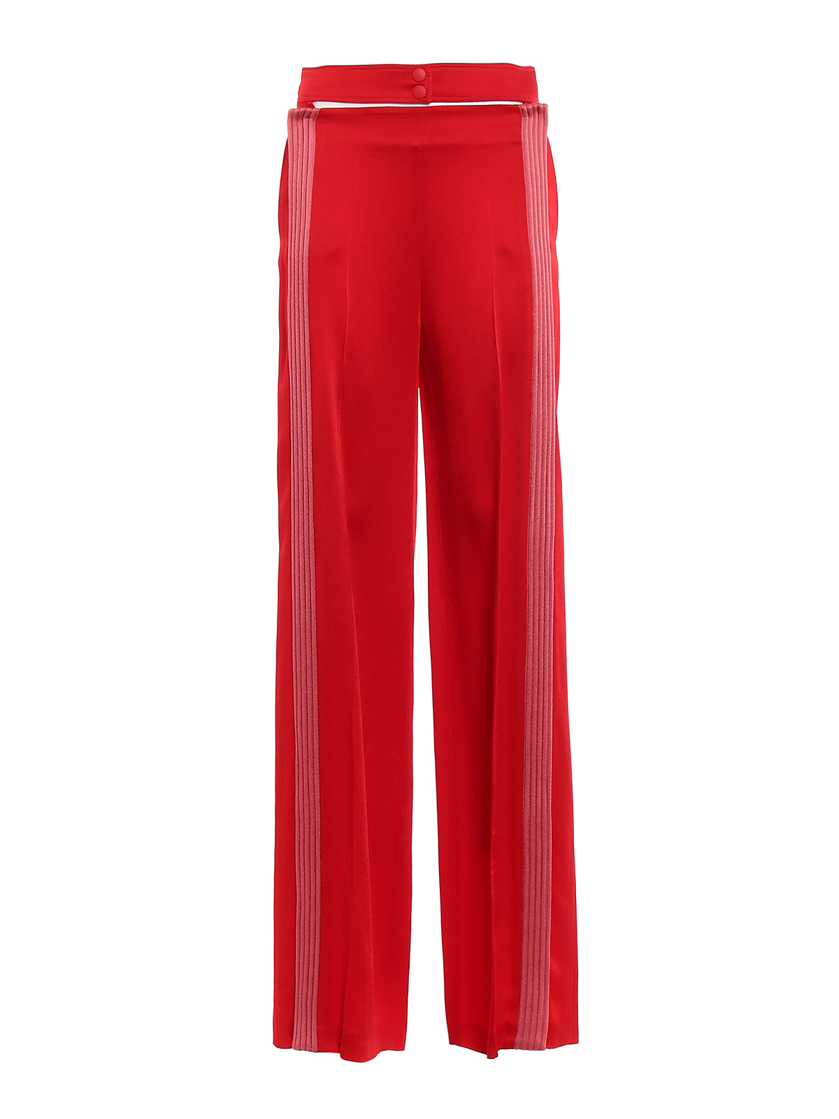 Hammered-satin wide-leg trousers Valentino ZtFOq