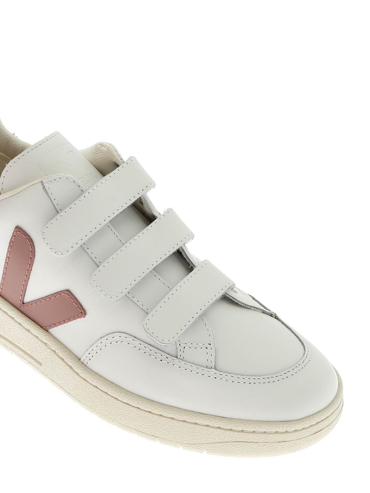 mundo Mensajero Armstrong  Veja - V-Lock sneakers in white with pink V - trainers - XC021599