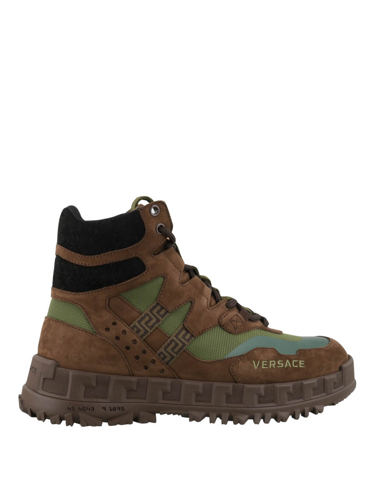 Versace SUEDE AND FABRIC HIKING BOOTS