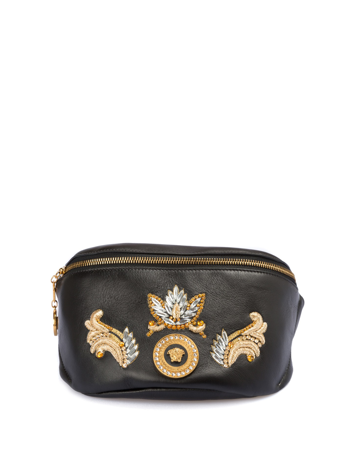Versace - Baroque embroidered leather bum bag - belt bags ... 2d4ec98f0cb6f