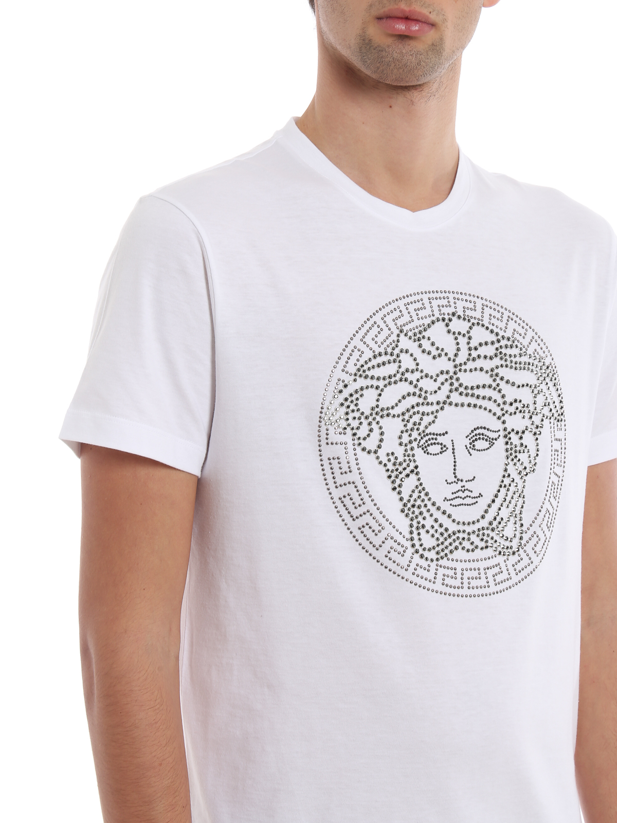 Versace - Crystal Medusa Head white T-shirt - t-shirts