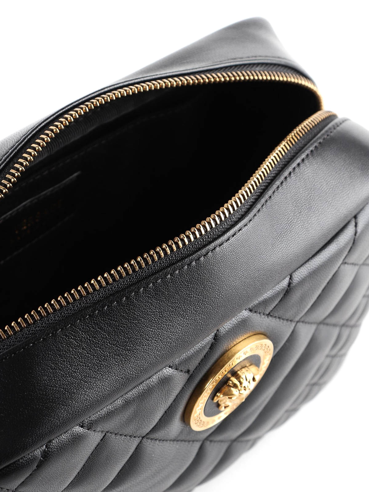 Versace - Medusa black quilted nappa shoulder bag - shoulder bags ... 6d69457f56860