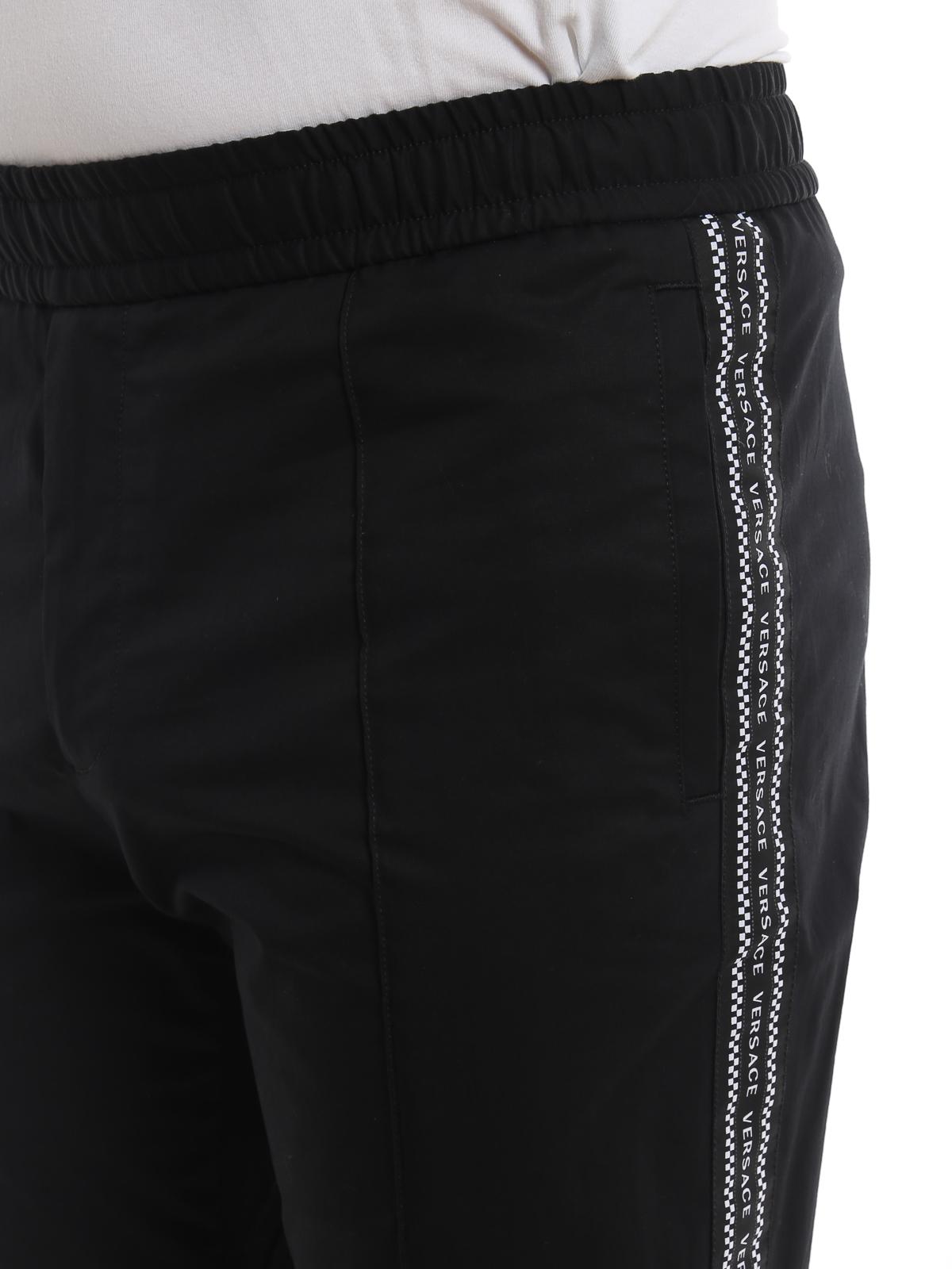 52e9e5e8 Versace - Nastro Versace black trousers - casual trousers ...