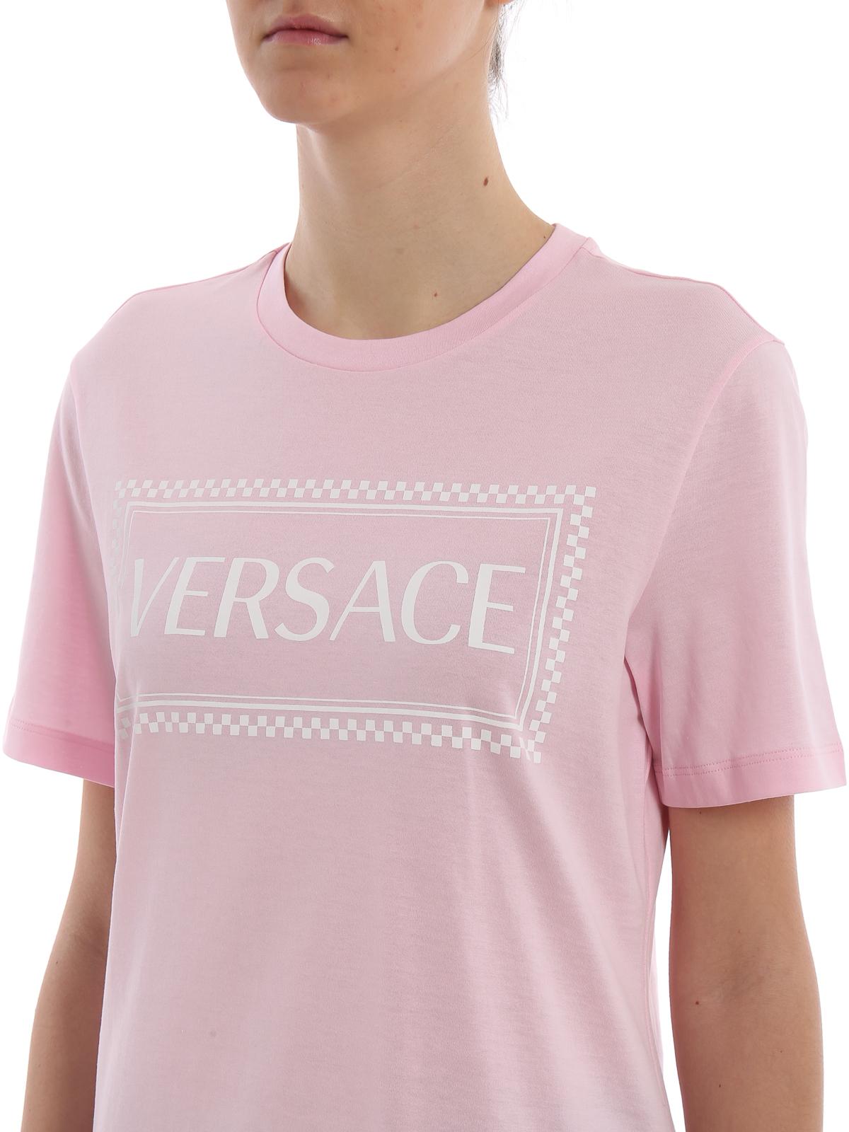 511310e5 Versace - Versace 90s Vintage logo cotton T-shirt - t-shirts ...