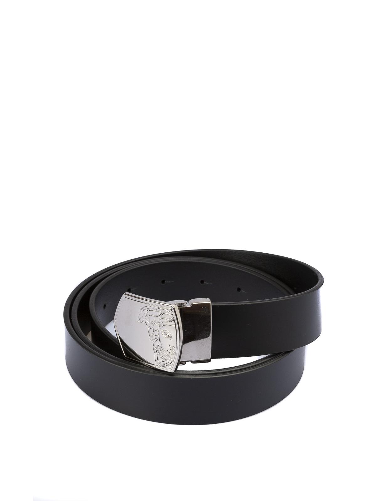 Los Angeles f8200 65427 Versace Collection - Cintura in pelle liscia con Testa di ...
