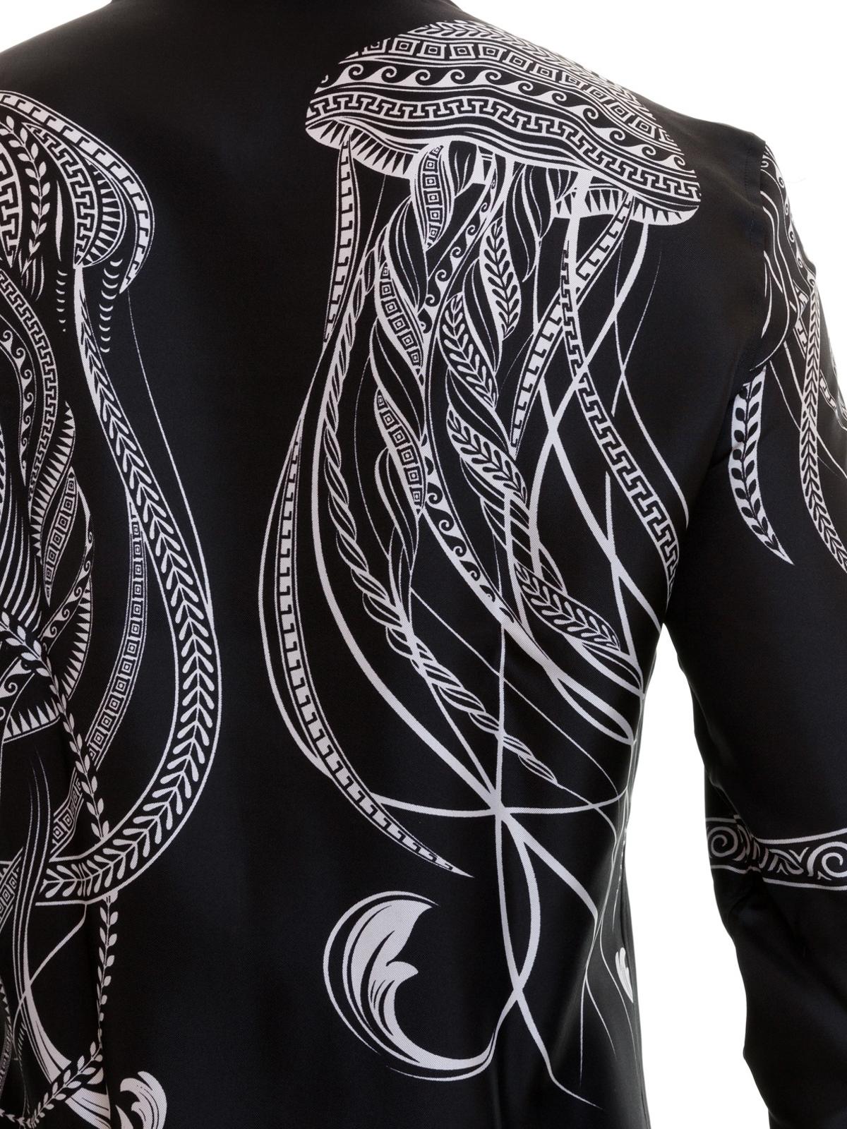 73c82726cfda Versace Collection - Baroque pattern silk twill shirt - shirts ...