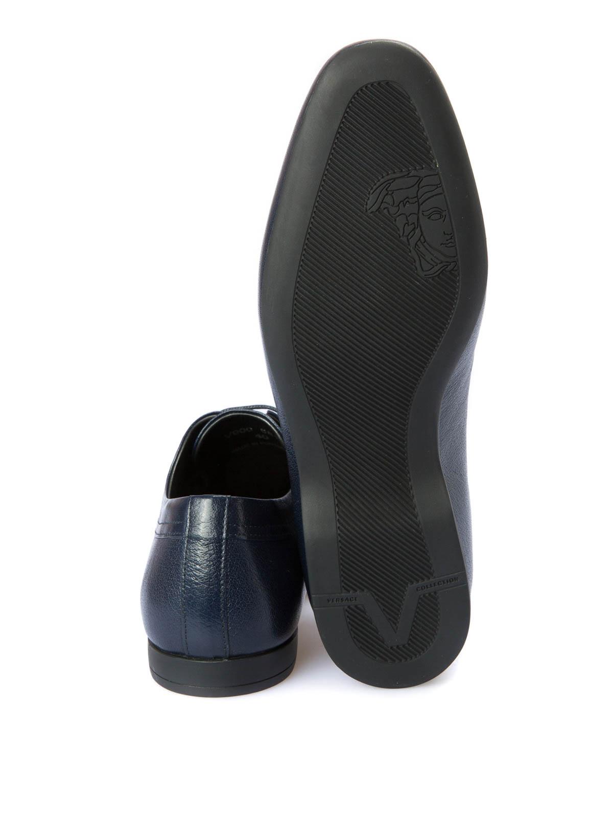 Klassische Herren Versace Blau Collection Schuhe Fur KclTJF13