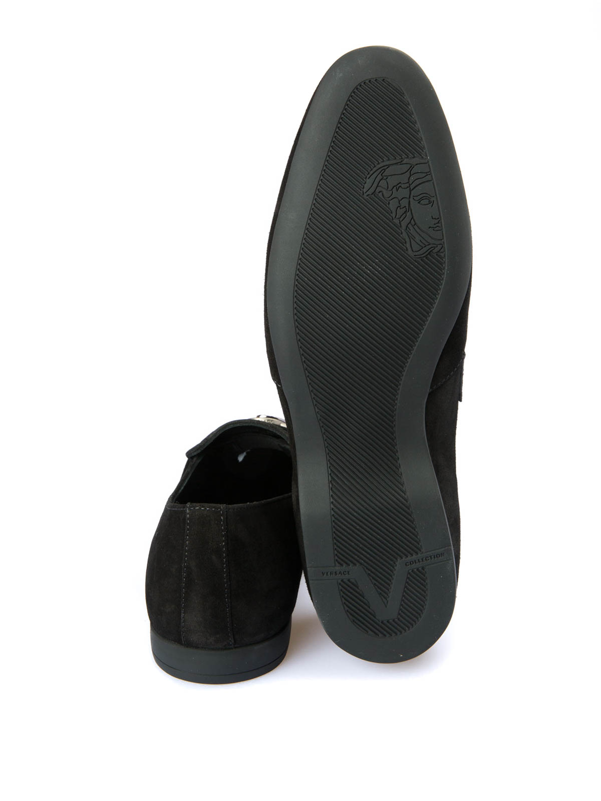 604467c3dd5 Versace Collection - Medusa detailed suede loafers - Loafers ...