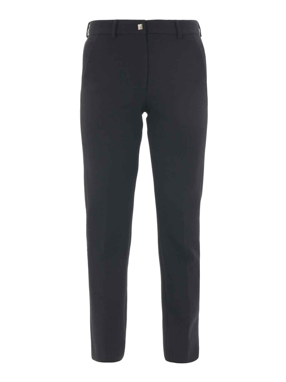 versace collection pantalon casual noir pour femme. Black Bedroom Furniture Sets. Home Design Ideas
