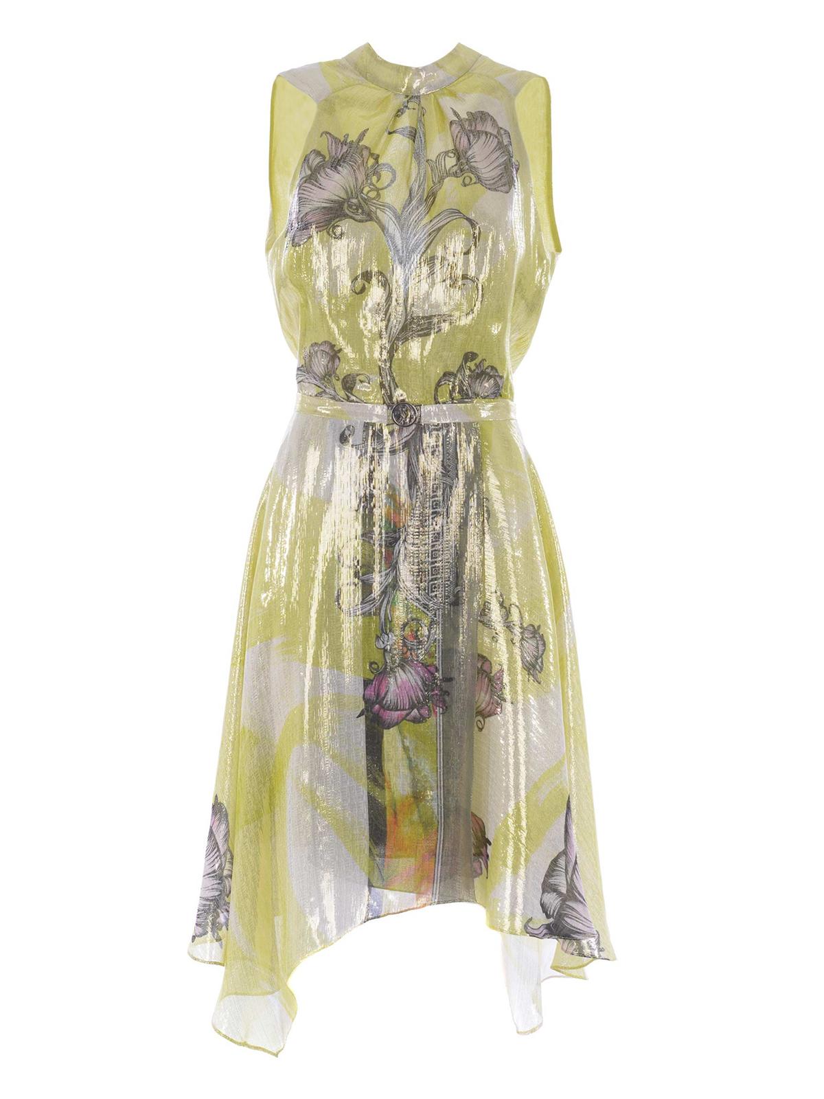 best website c799a 45919 Versace Collection - Abito in seta e lurex floreale - abiti ...