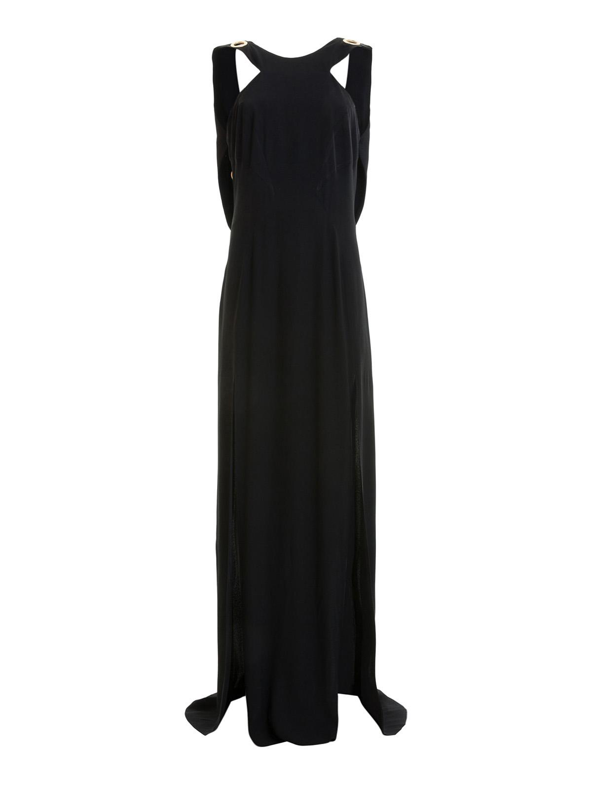 online store 1e0ec ea7ec Versace Collection - Abito lungo con dettaglio occhielli ...