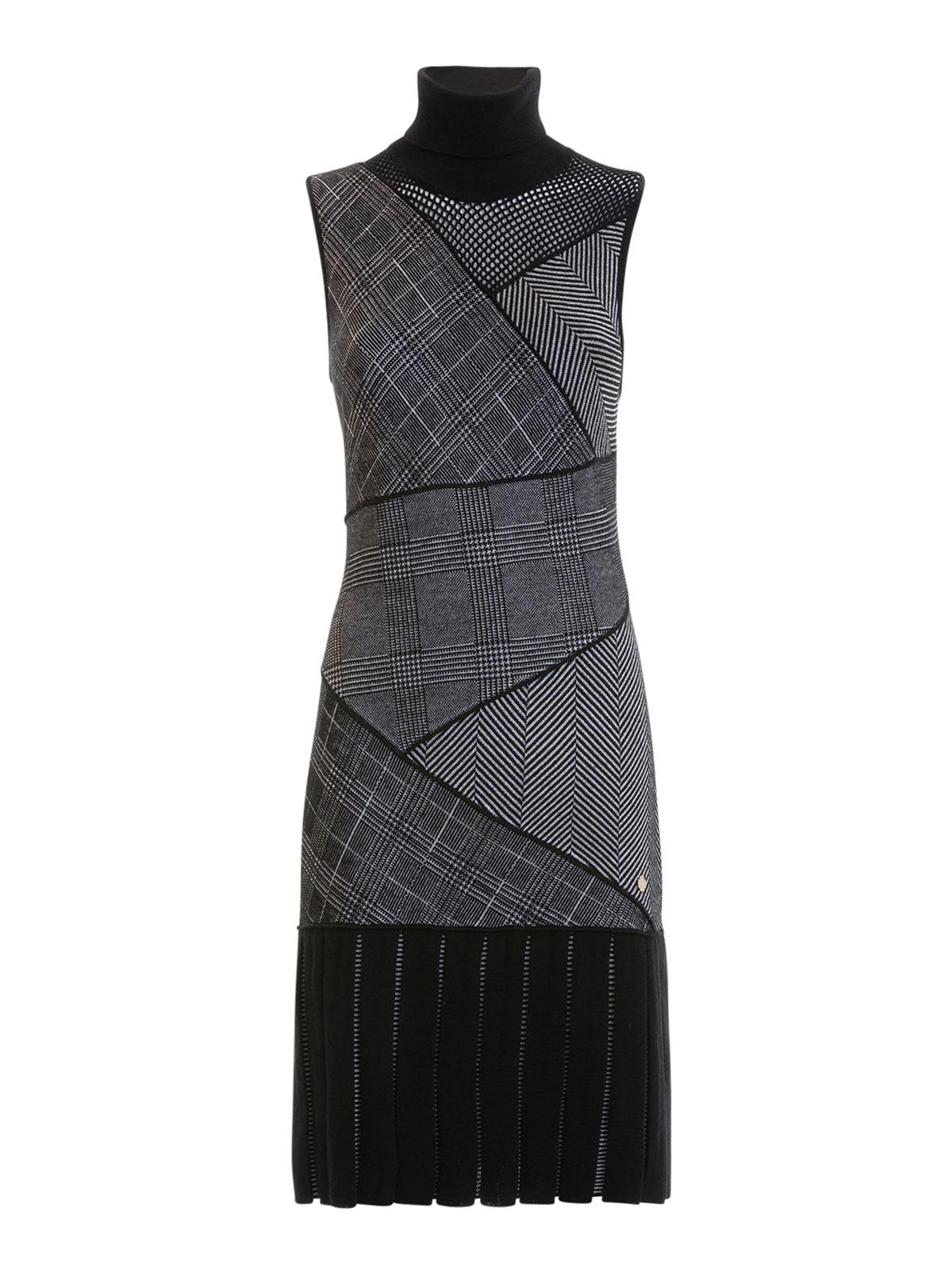 Kleider Collection Knielanges Kleid Knielange Versace Grau b7vfg6Yy