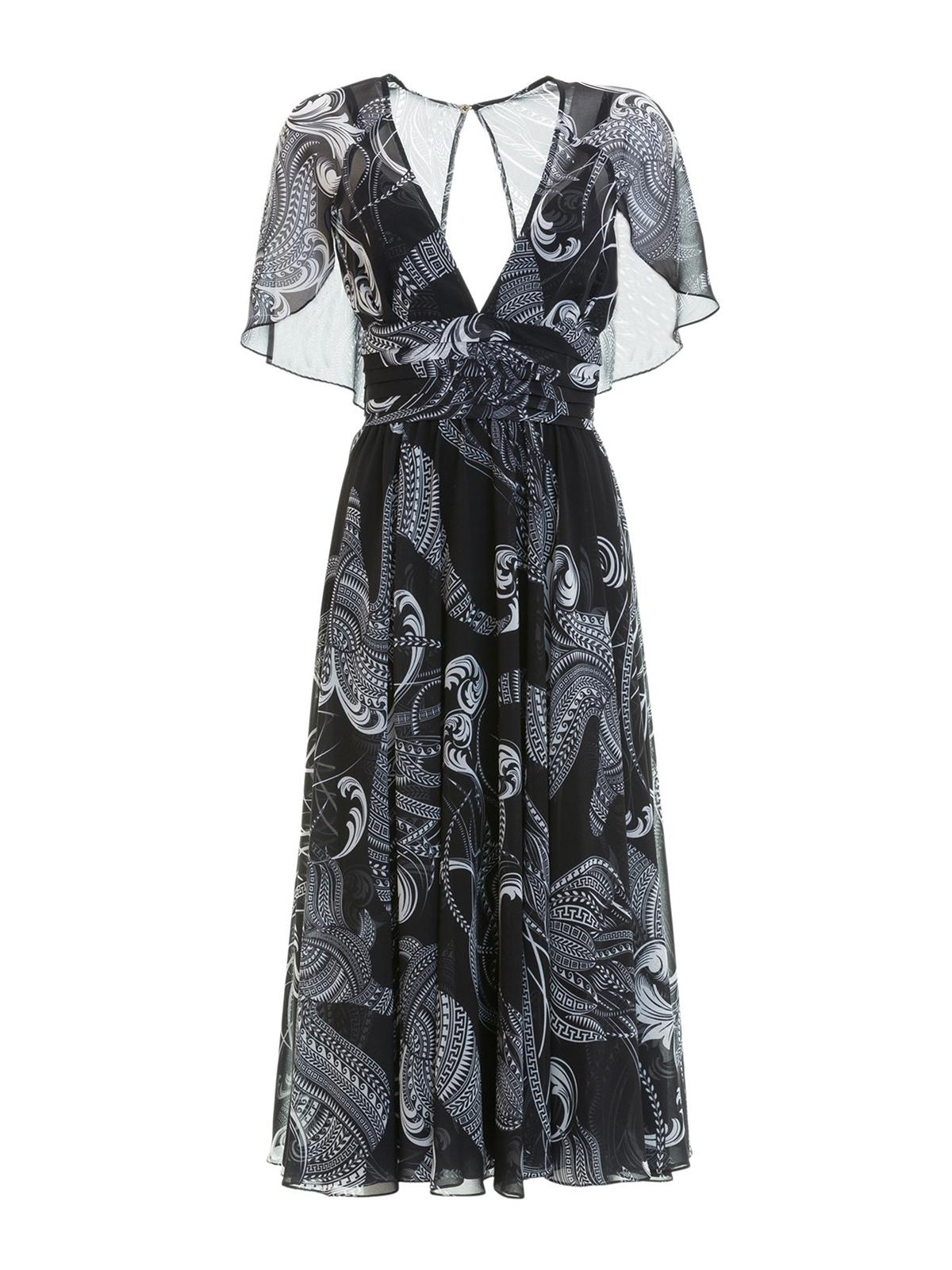 Stampa Con Abiti Midi Lunghi Versace Abito Iconica Collection E9YD2IWH