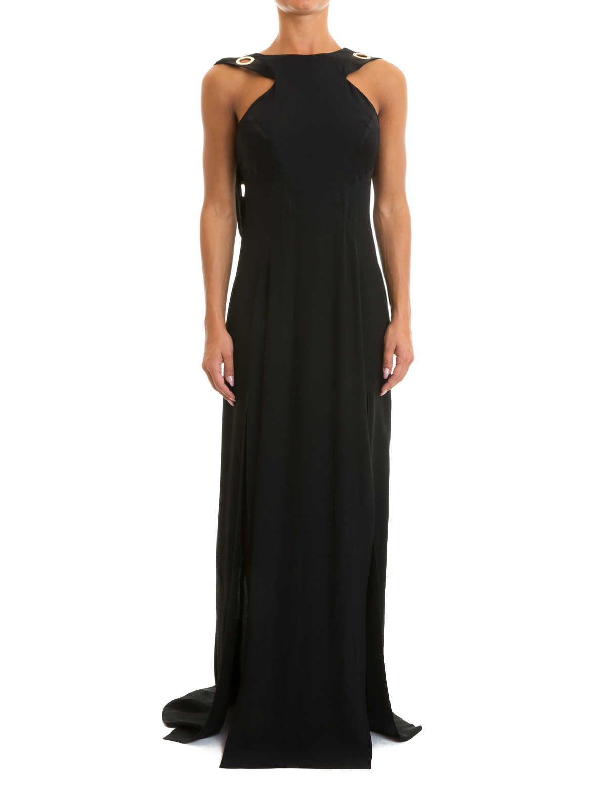 Versace Collection - Grommet detailed long gown - evening dresses ...