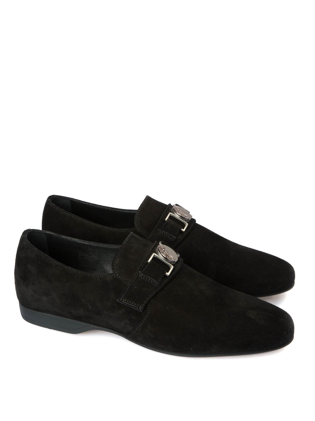 d681851f03f VERSACE COLLECTION  Loafers   Slippers online - Medusa detailed suede  loafers