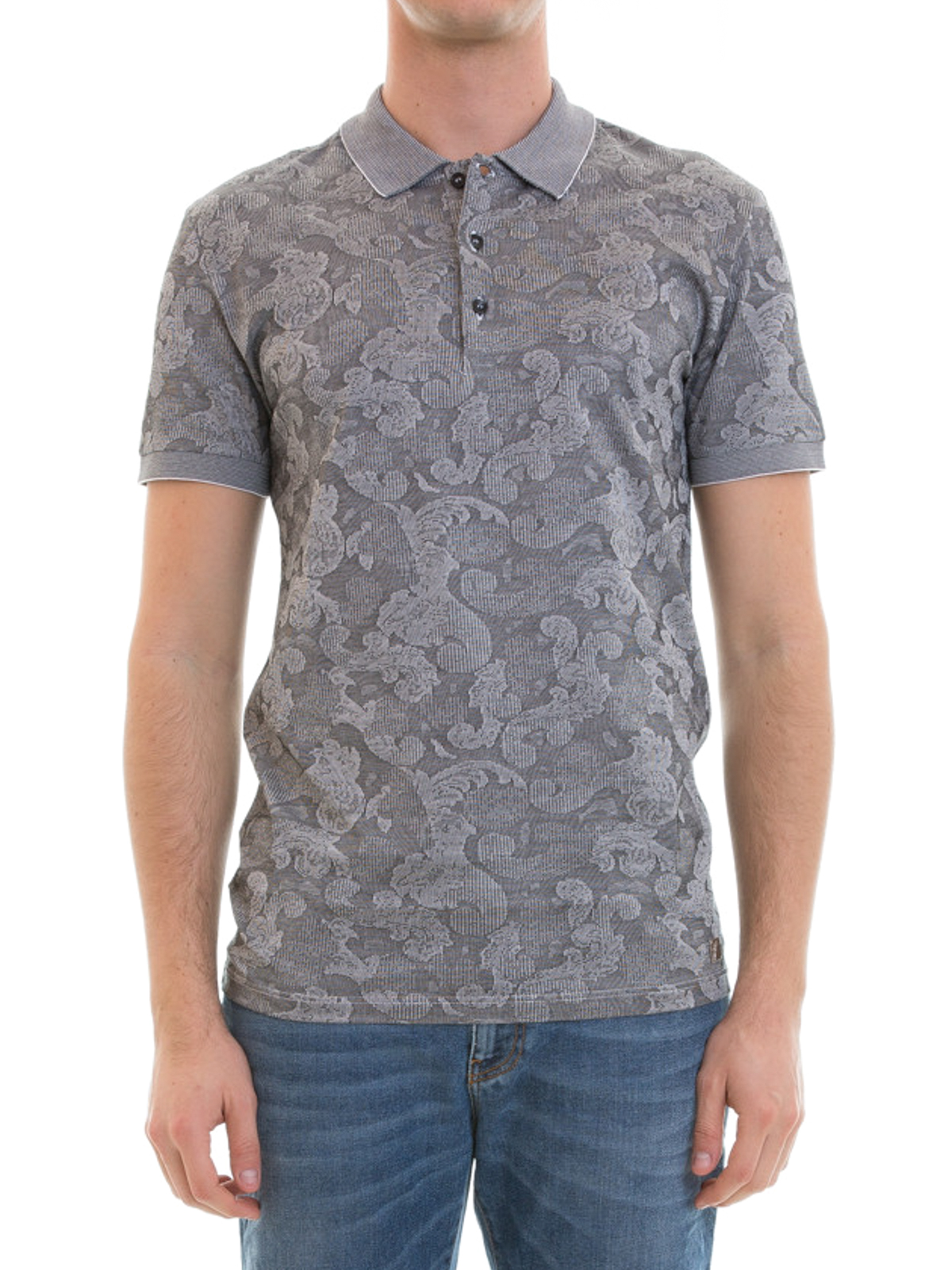 fd247756dd537 VERSACE COLLECTION  polo shirts online - Baroque patterned polo