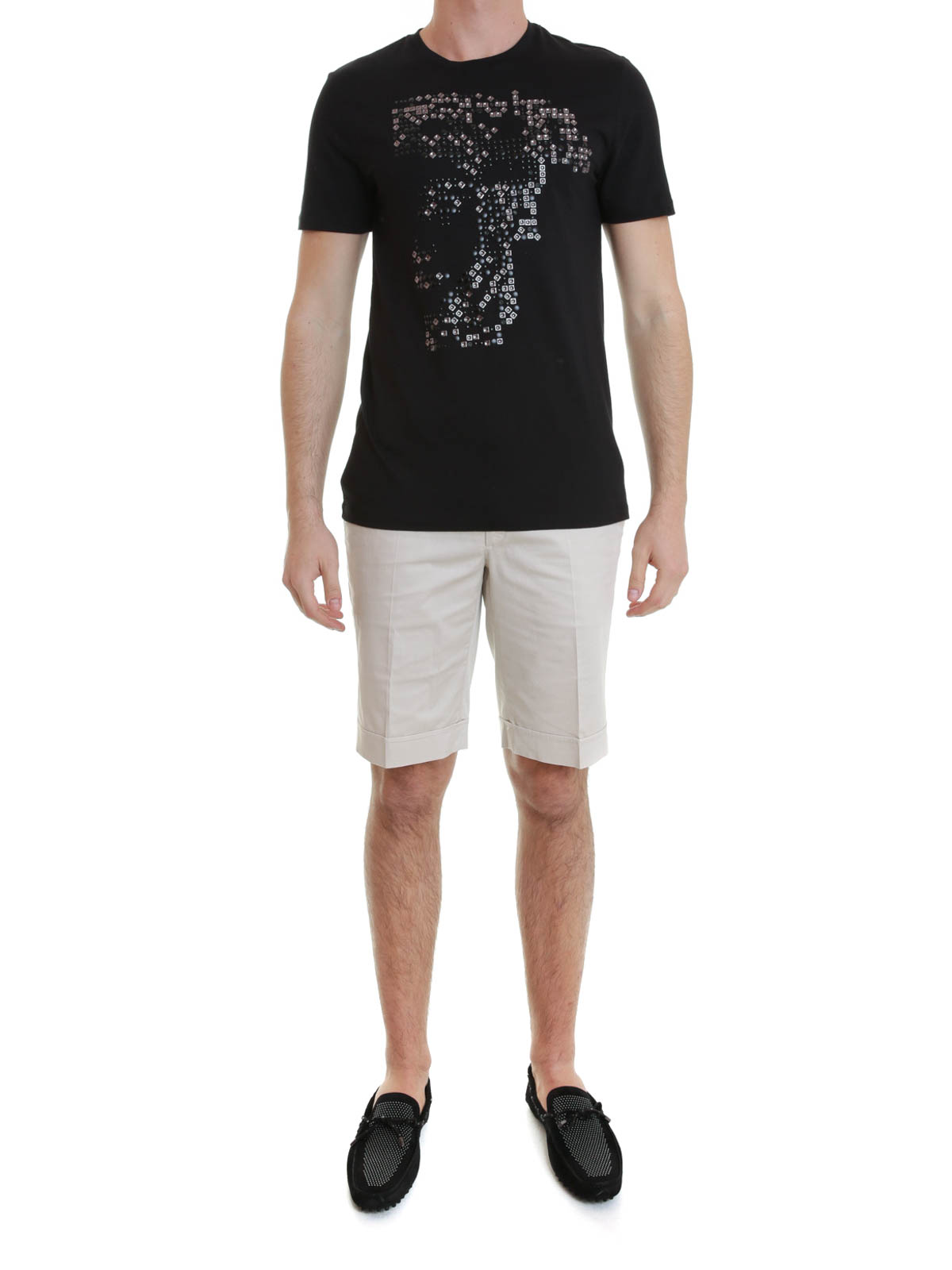 b8375c8a177 Versace Collection - T-Shirt Noir Pour Homme - T-shirts - V800683 ...