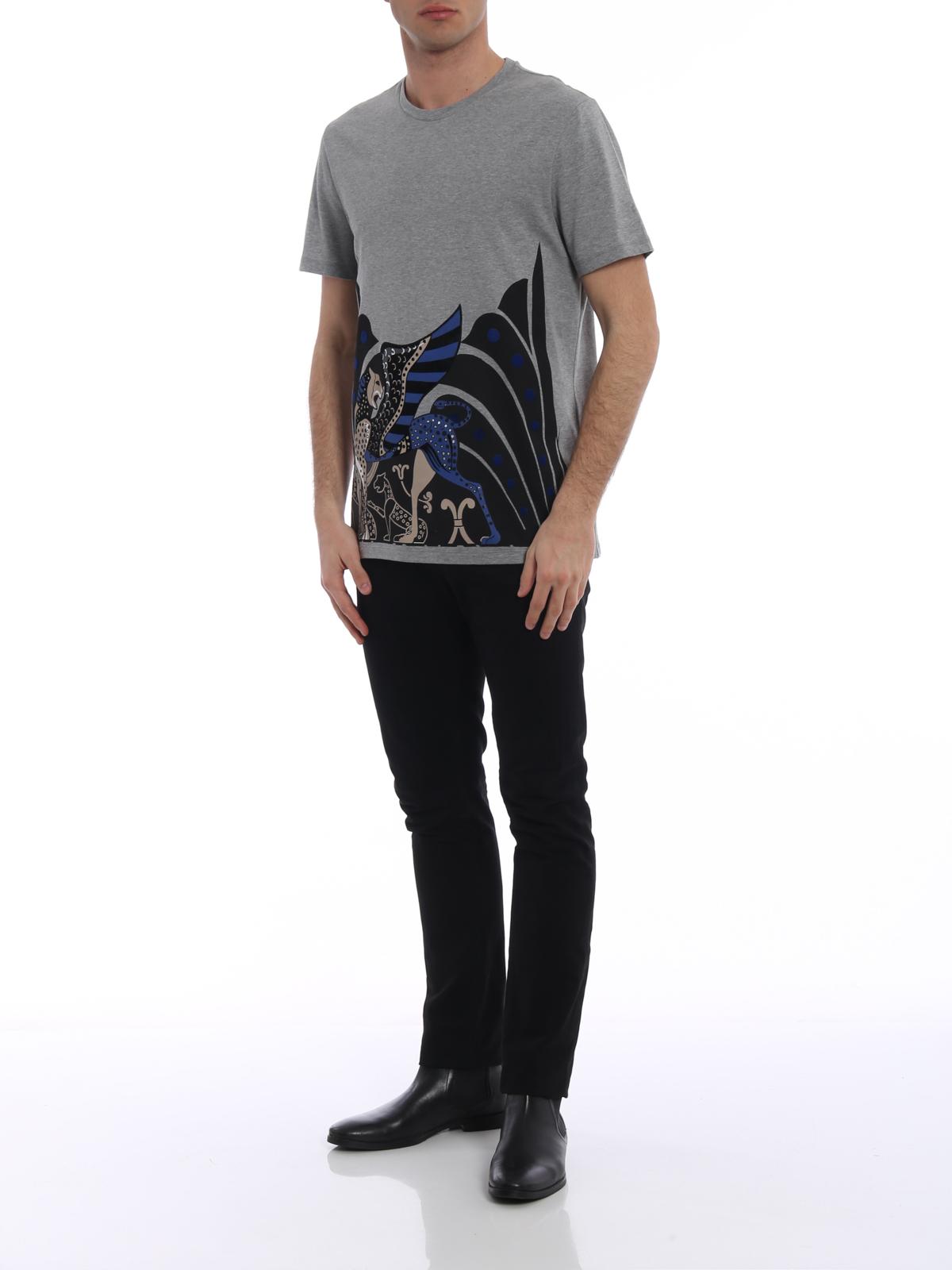 Versace Collection - T-Shirt - Grau - T-shirts - V800683VJ00515V8085 cb3f3cdc2d