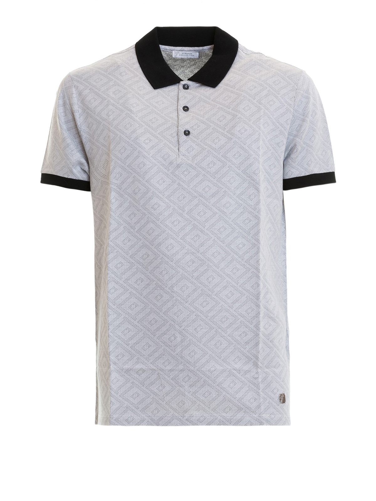 3fd0086a36657 Versace Collection - Contrasting detailed polo shirt - polo shirts ...