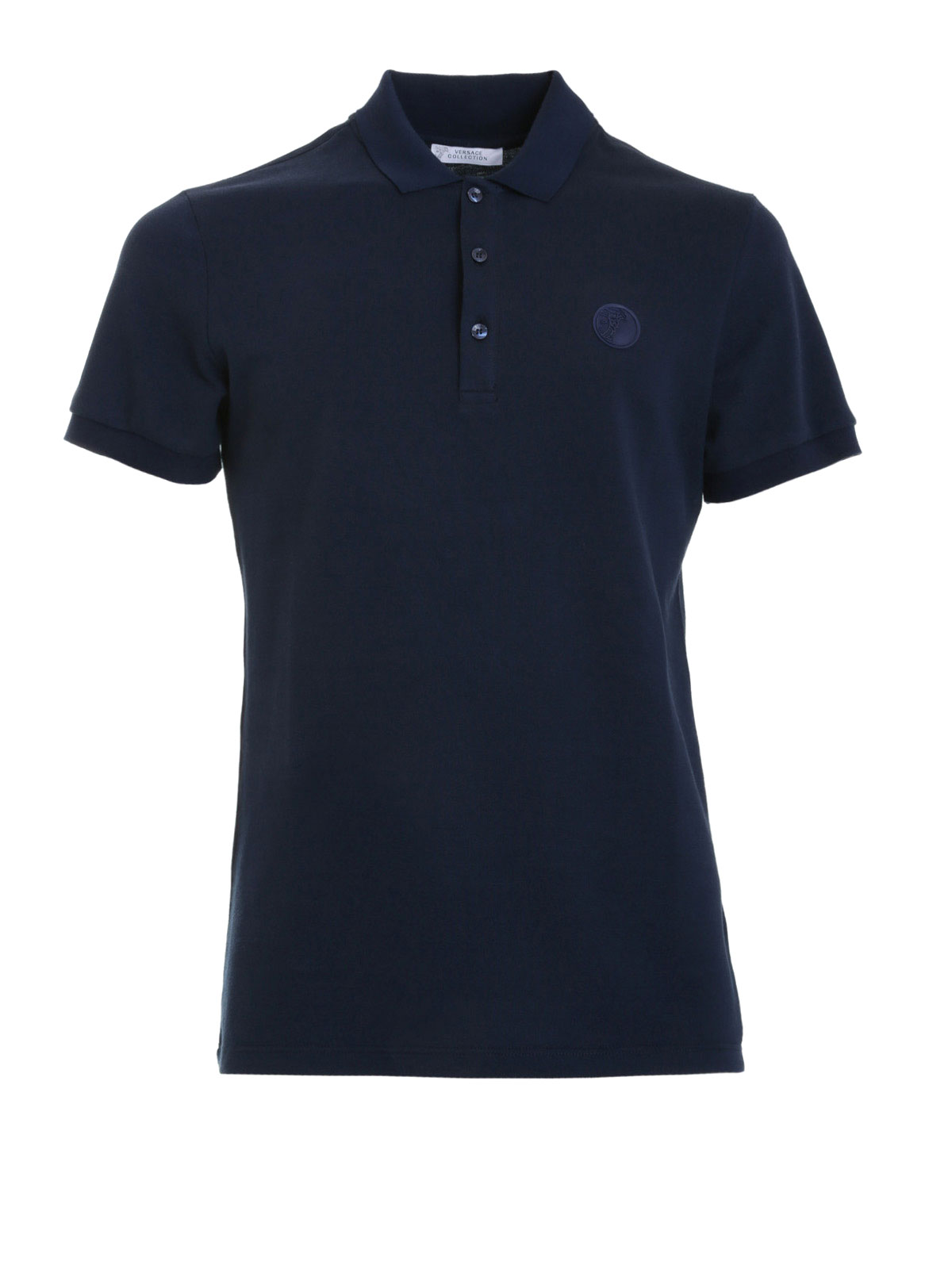 Logo polo shirt by versace collection polo shirts ikrix for Polo shirt with company logo