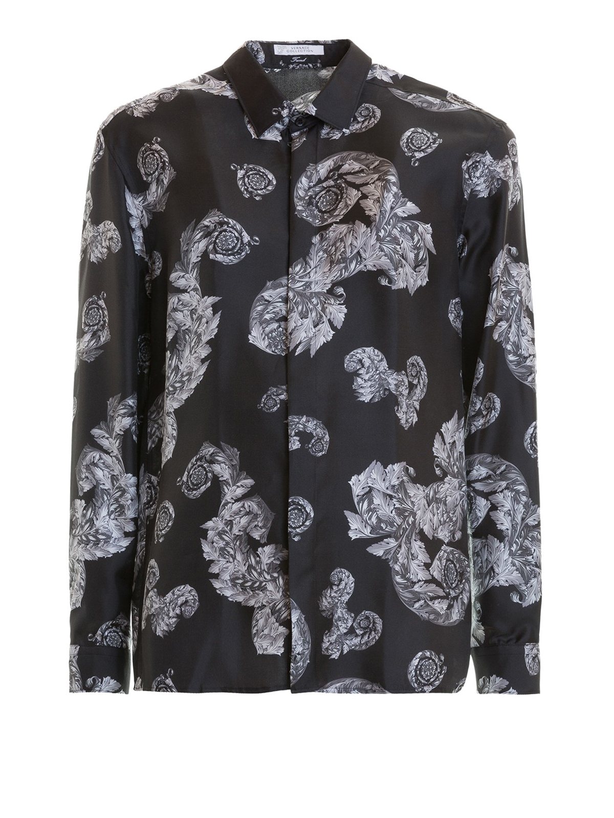 06226ca6 Versace Collection - Baroque print silk shirt - shirts ...