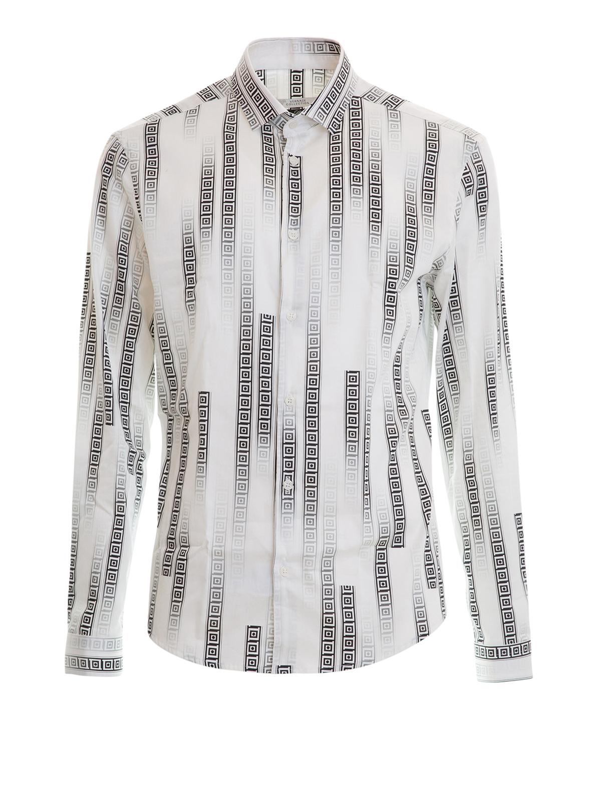 8b270d83c473 Versace Collection - Chemise Blanc Pour Homme - Chemises ...