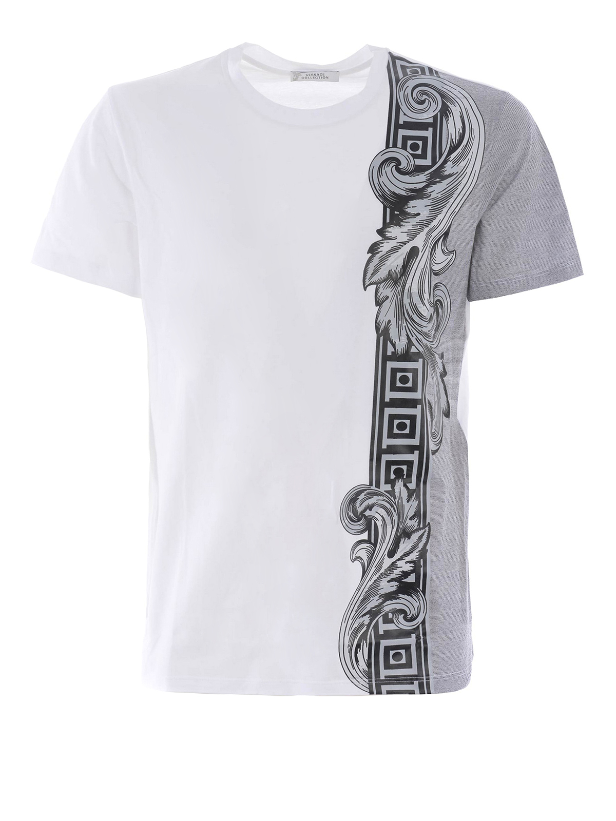 62131dde Versace Collection - Baroque print cotton T-shirt - t-shirts ...