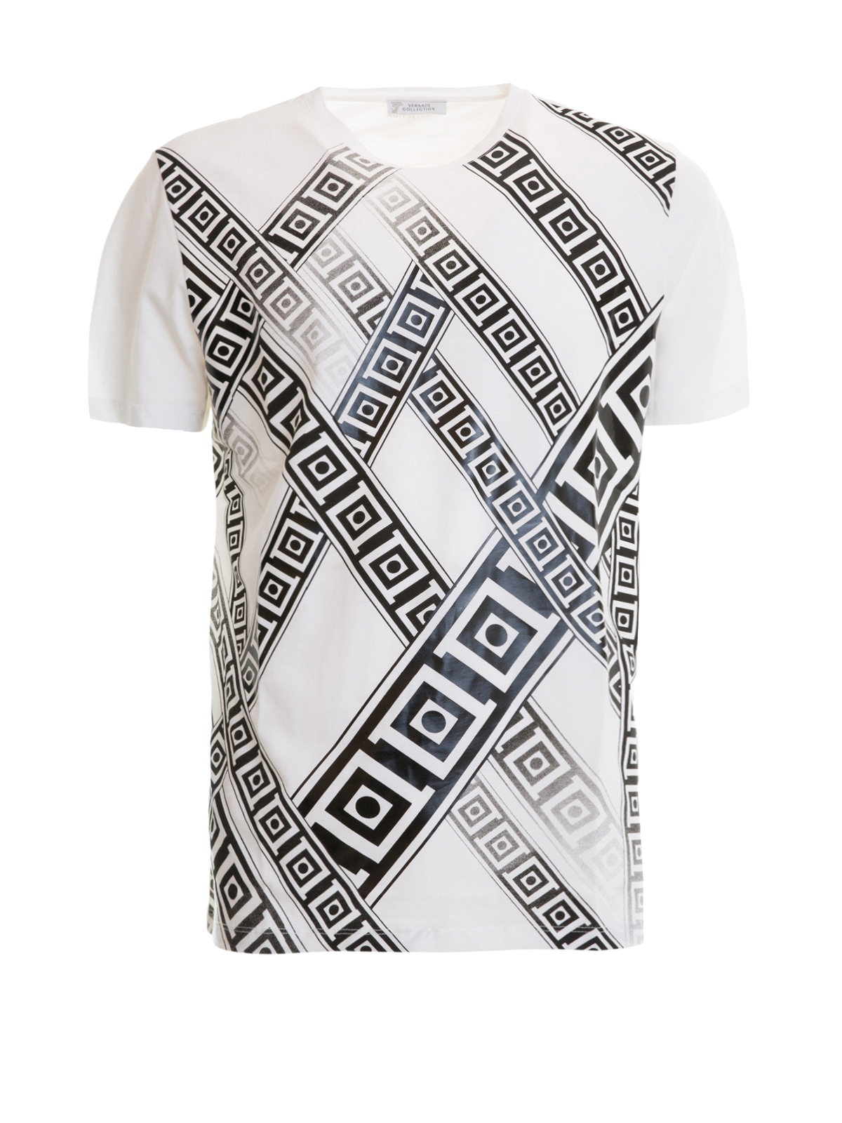 Versace Collection - T-Shirt Blanc Pour Homme - T-shirts ... 8da326e5f20