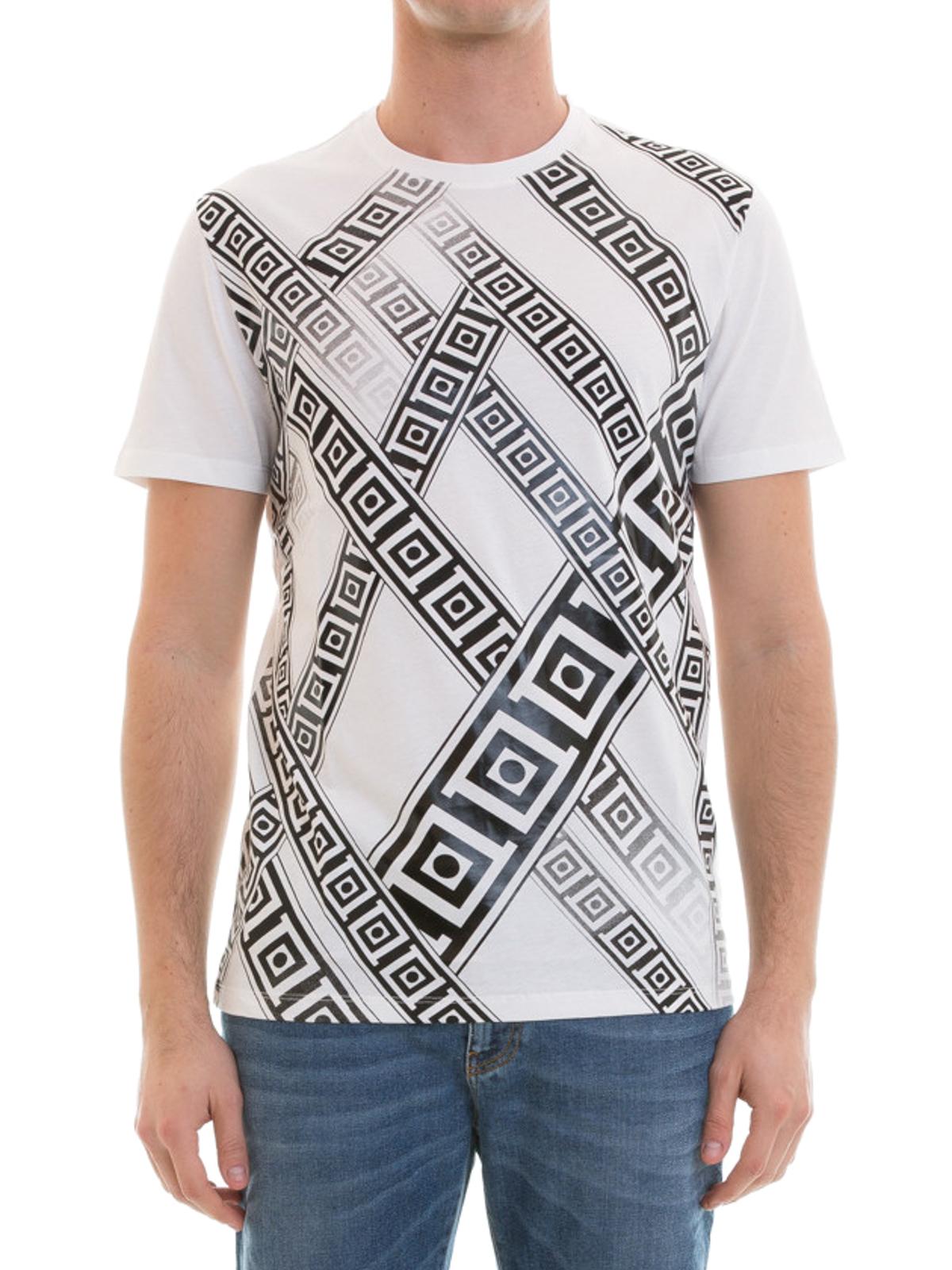 greek fret print t shirt by versace collection t shirts ikrix. Black Bedroom Furniture Sets. Home Design Ideas