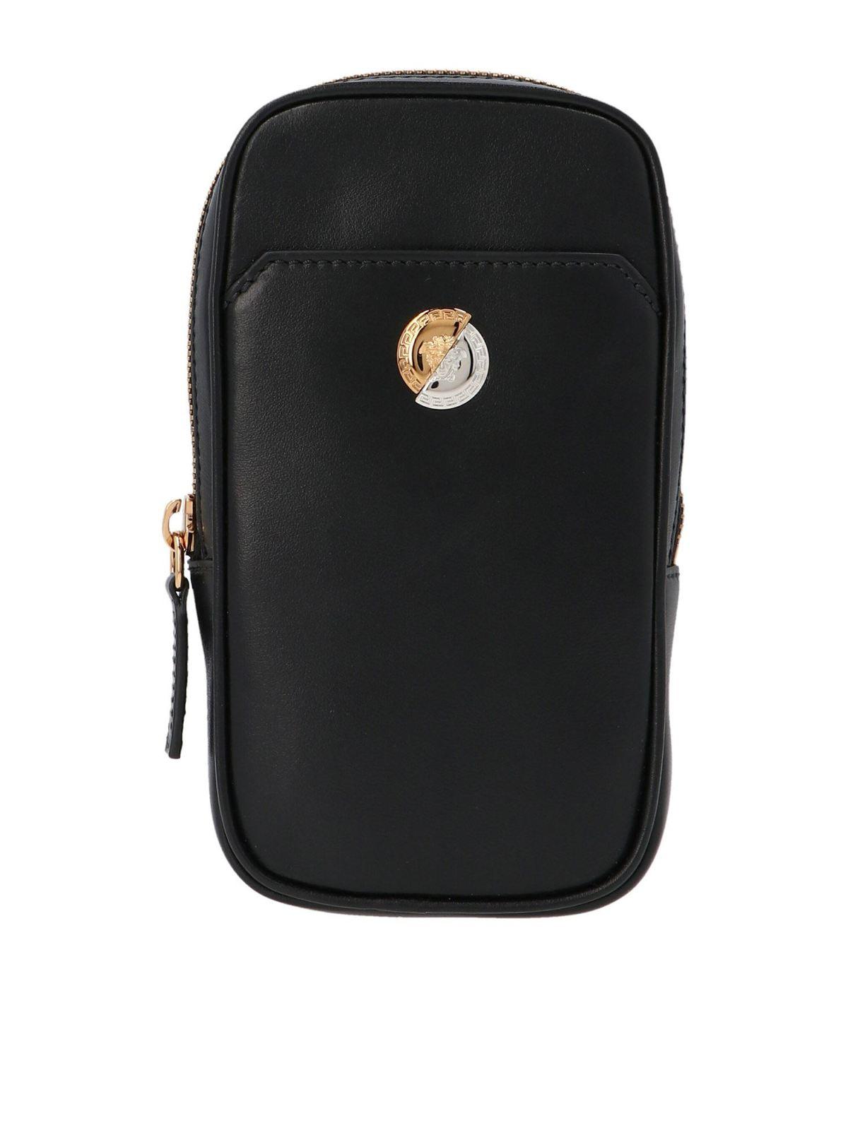 Versace MEDUSA DEMI SHOULDER BAG IN BLACK