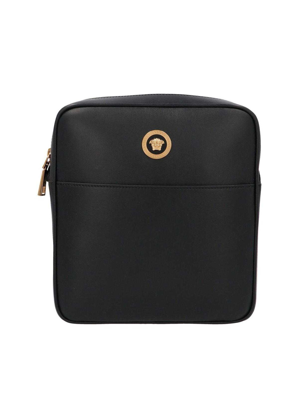 Versace MEDUSA SHOULDER BAG IN BLACK