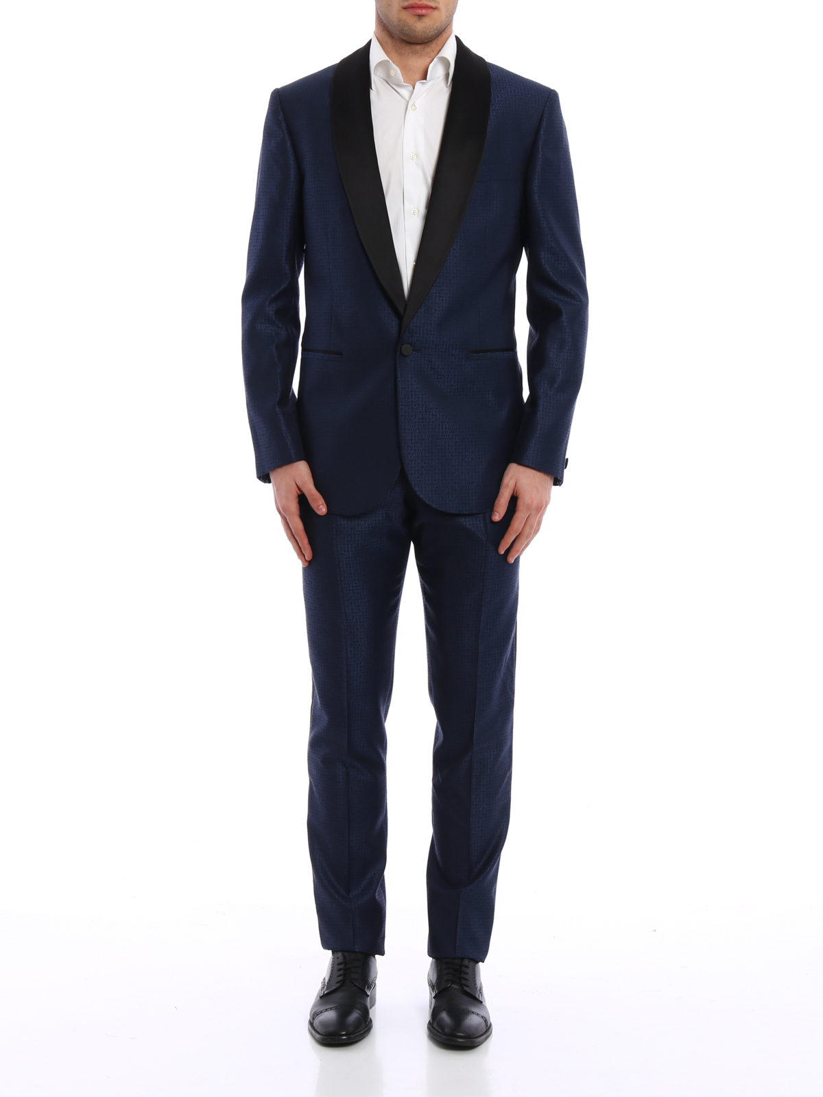 Wool and silk blend jacquard tuxedo by Versace - dinner ...