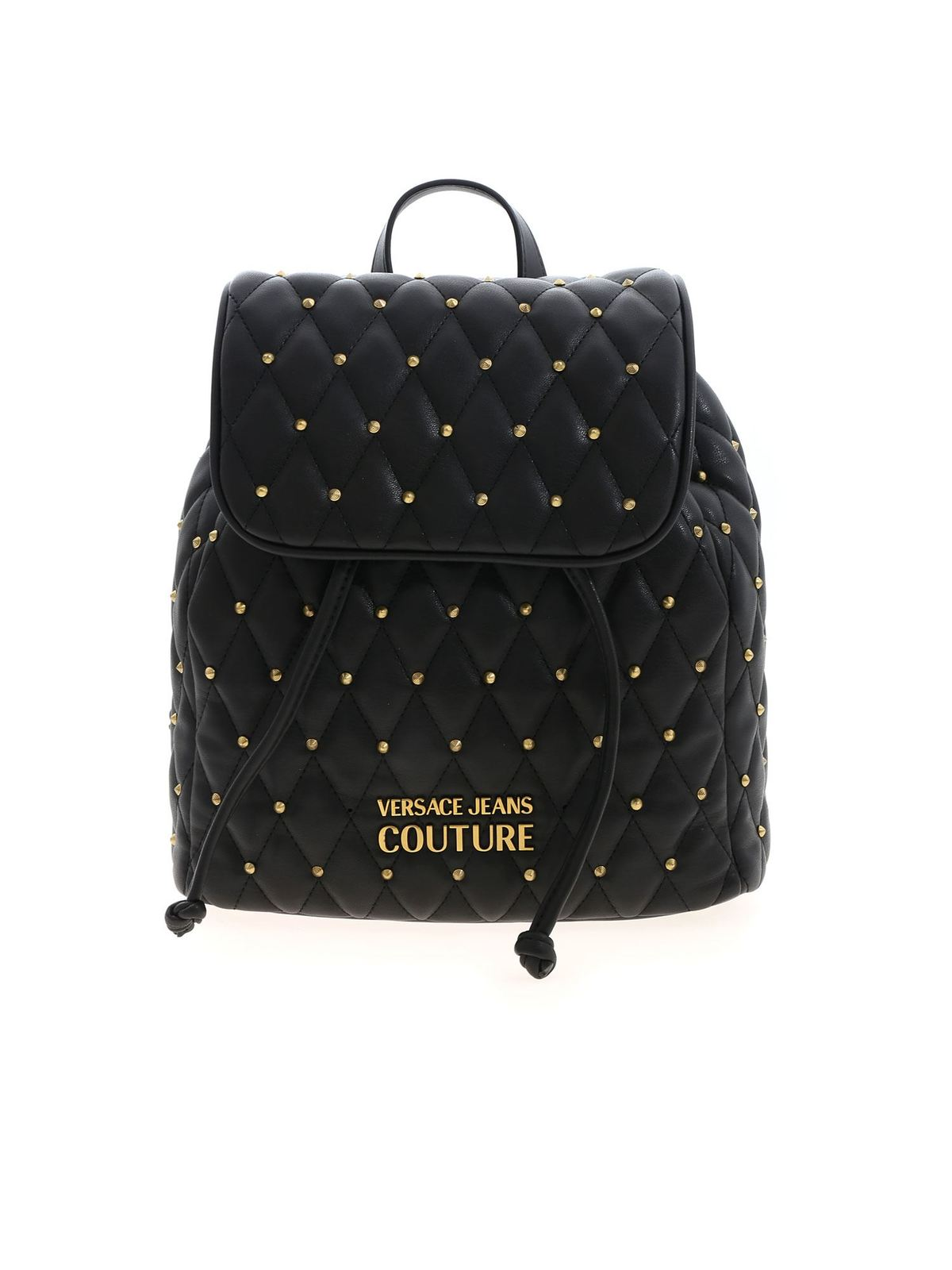 Versace Jeans Couture STUDS BACKPACK IN BLACK