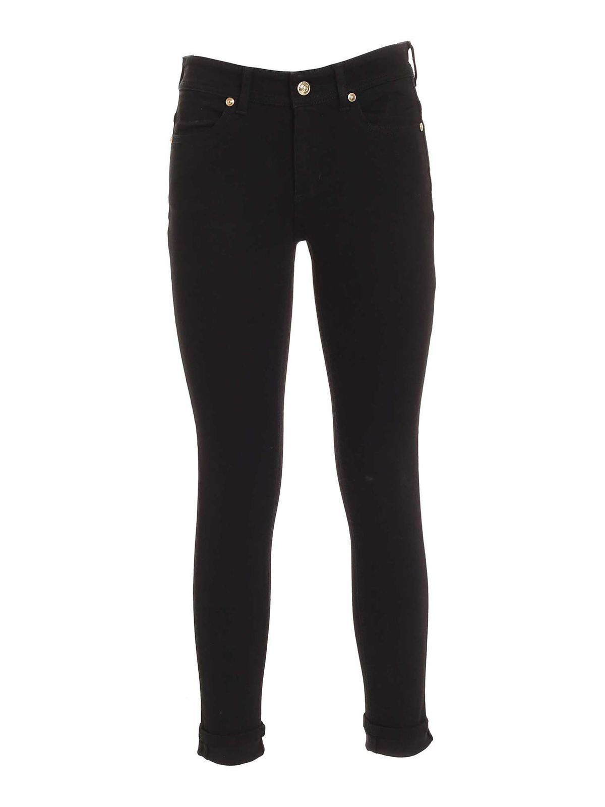 Versace Jeans Couture LOGO PATCH PANTS IN BLACK