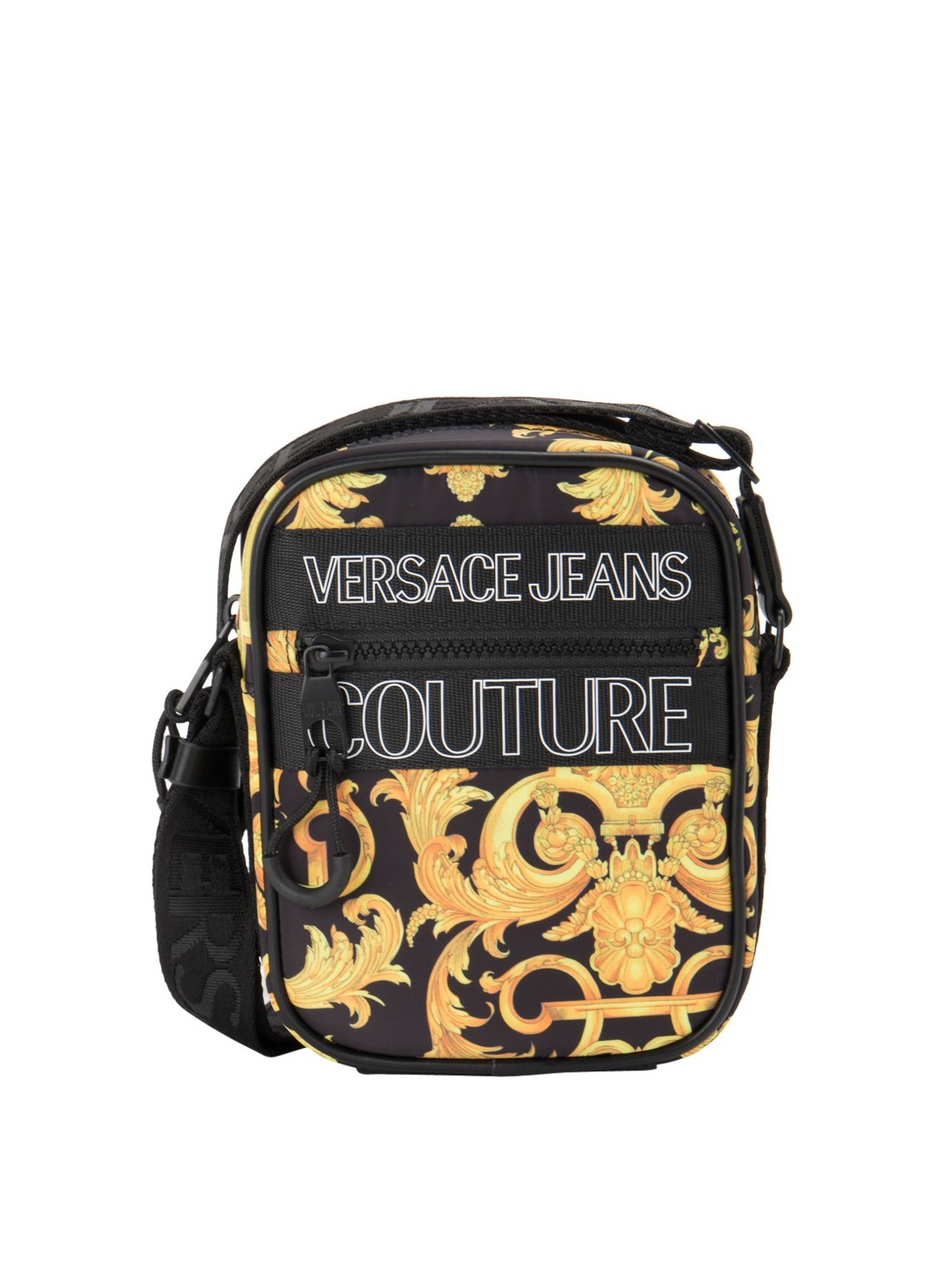 Versace Jeans Couture BAROQUE PRINT FABRIC CROSSBODY BAG