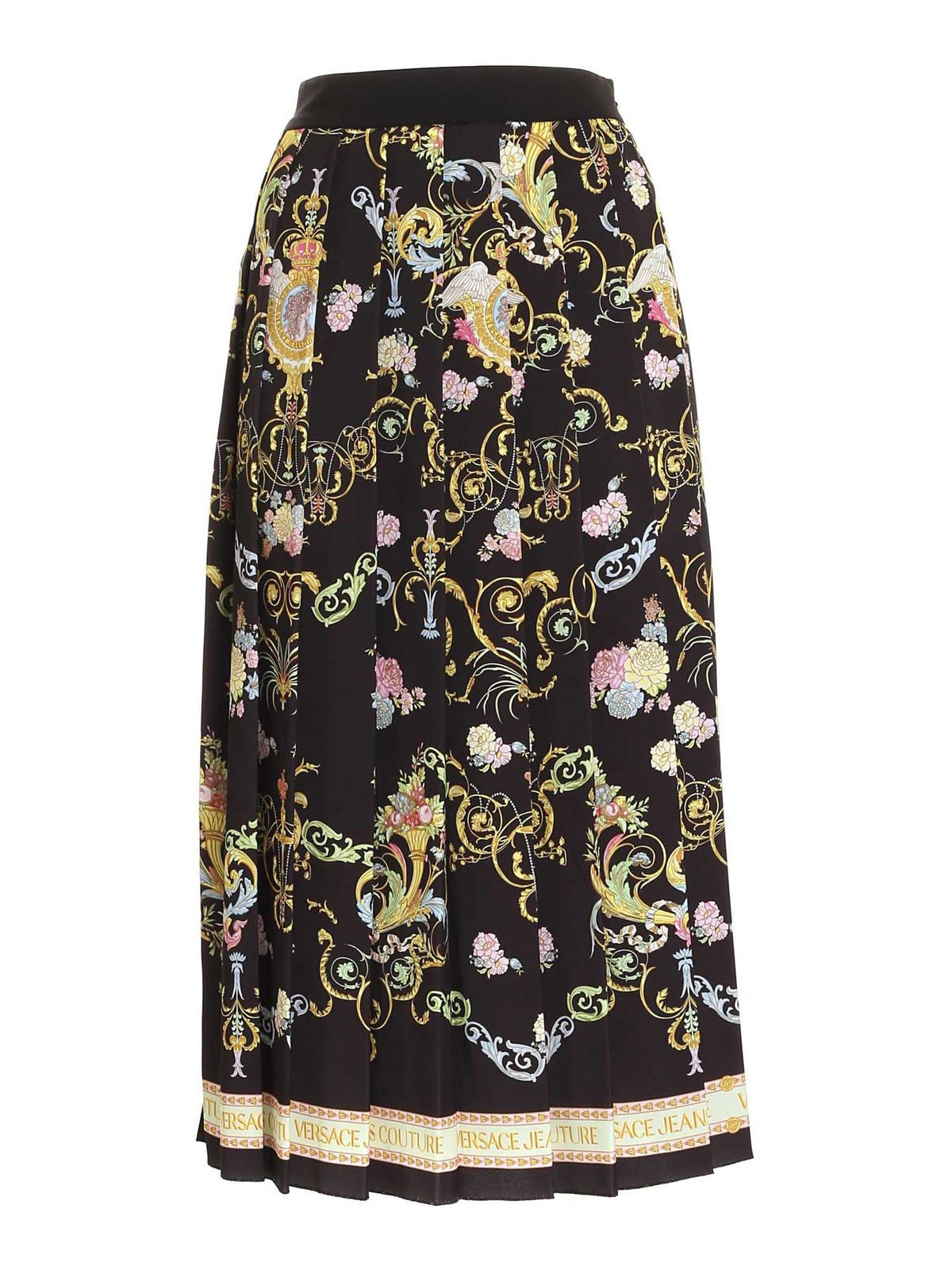 Versace Jeans Couture Skirts PRINT LONG SKIRT IN BLACK