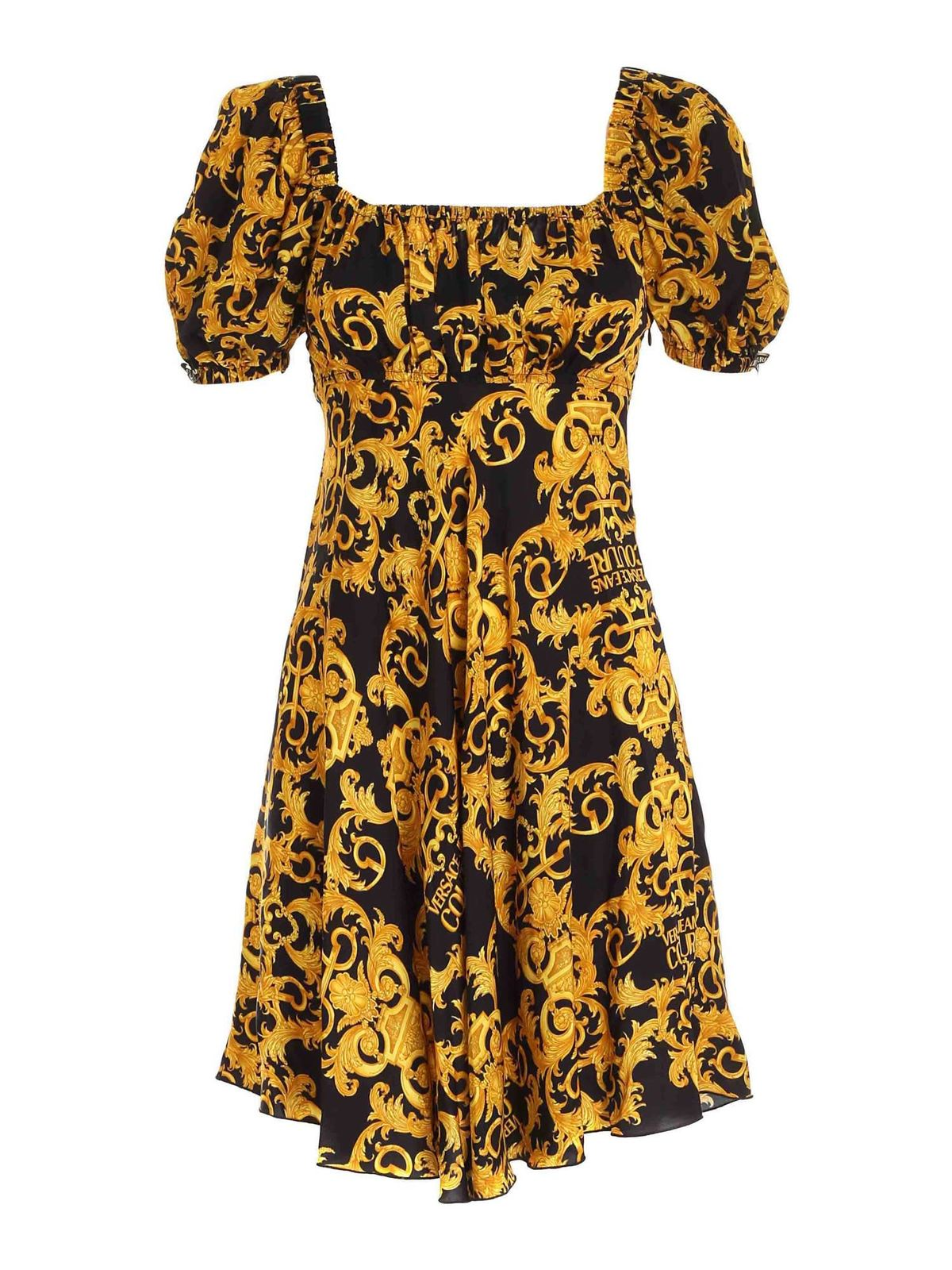 Versace Jeans Couture Dresses BAROQUE PRINT DRESS IN BLACK